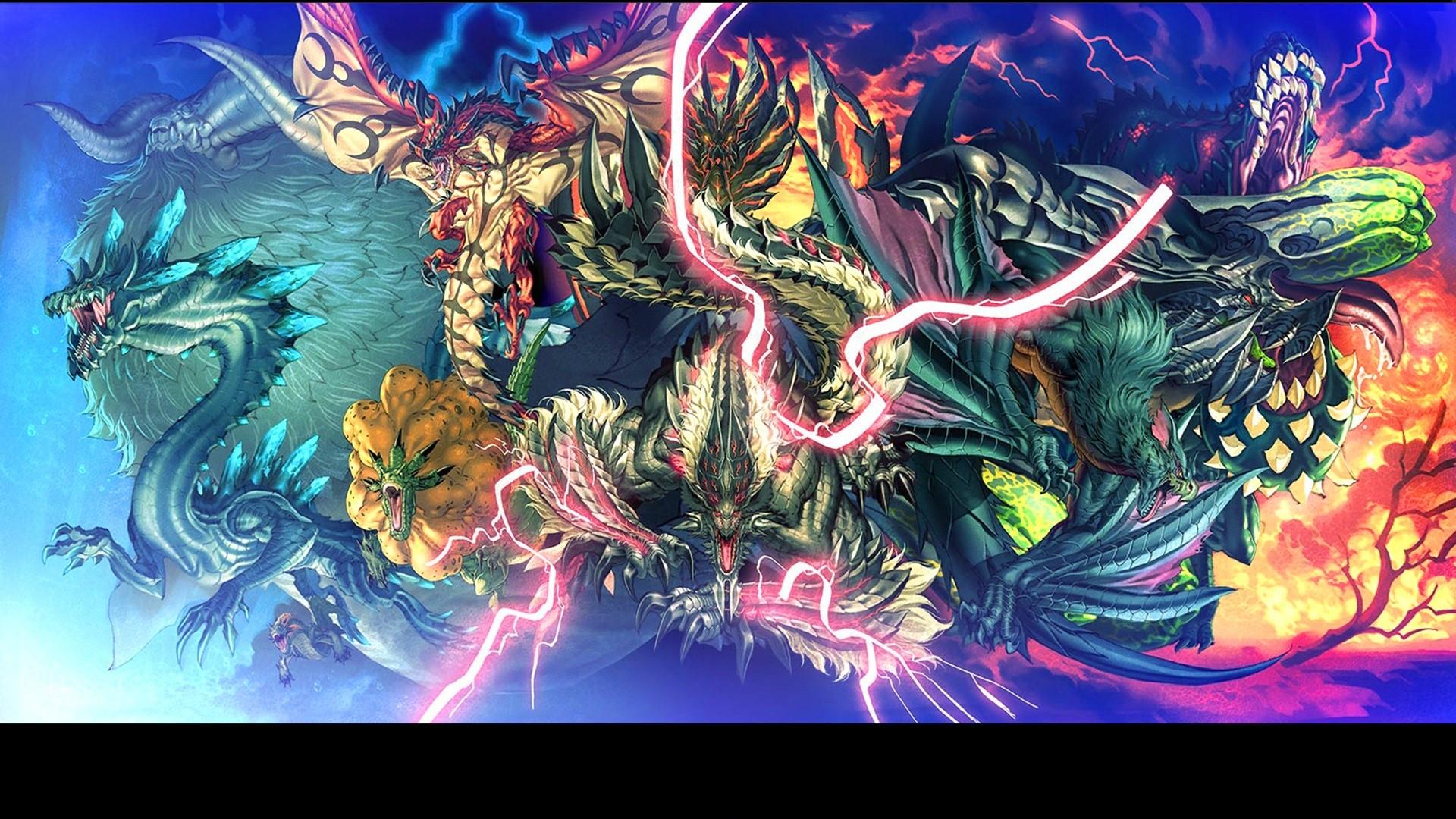 Wallpaper Illustration Anime Monster Hunter Comics Lagiacrus