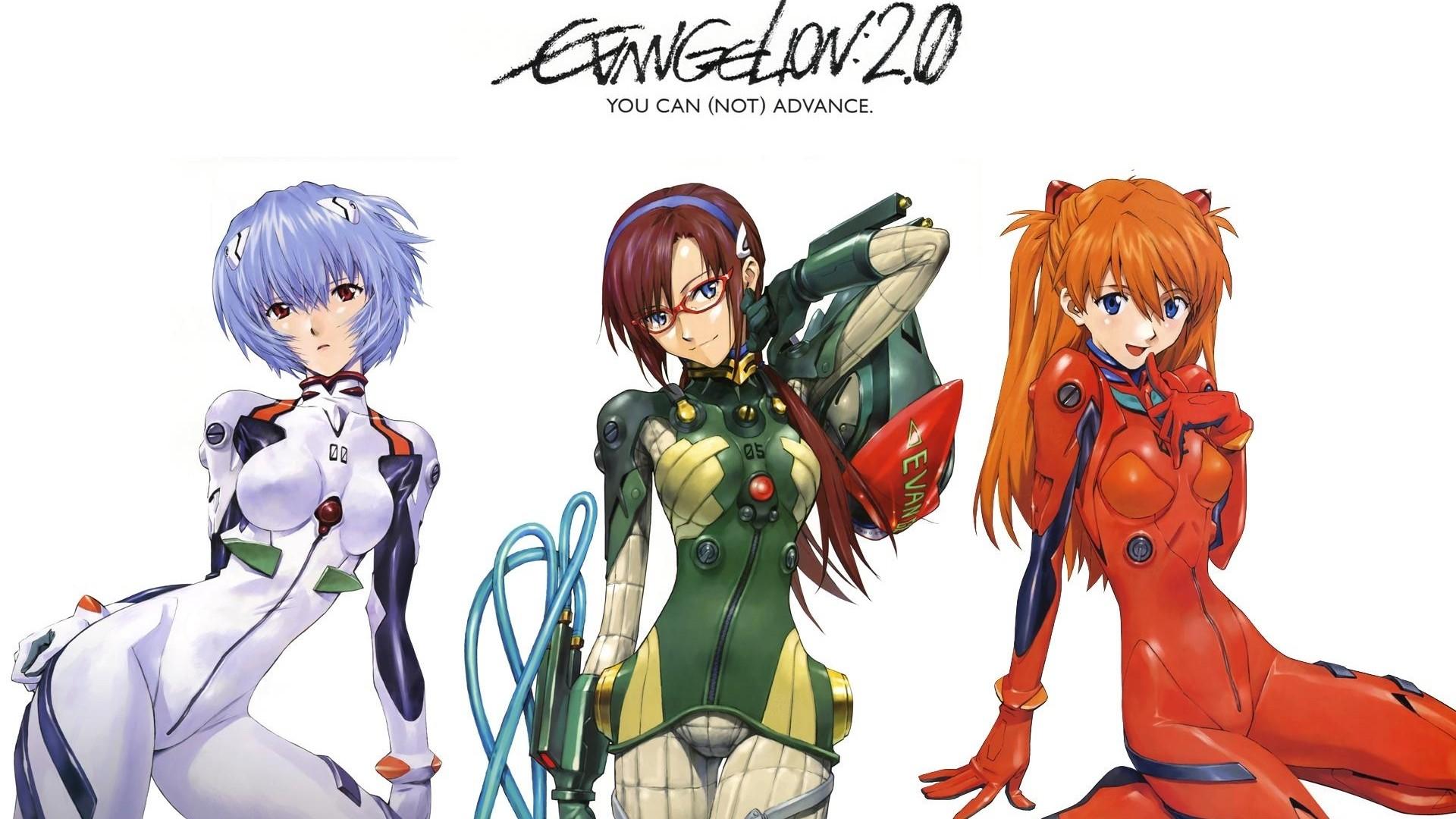 Neon Genesis Evangelion Asuka Langley Soryu Ayanami Rei Makinami Mari