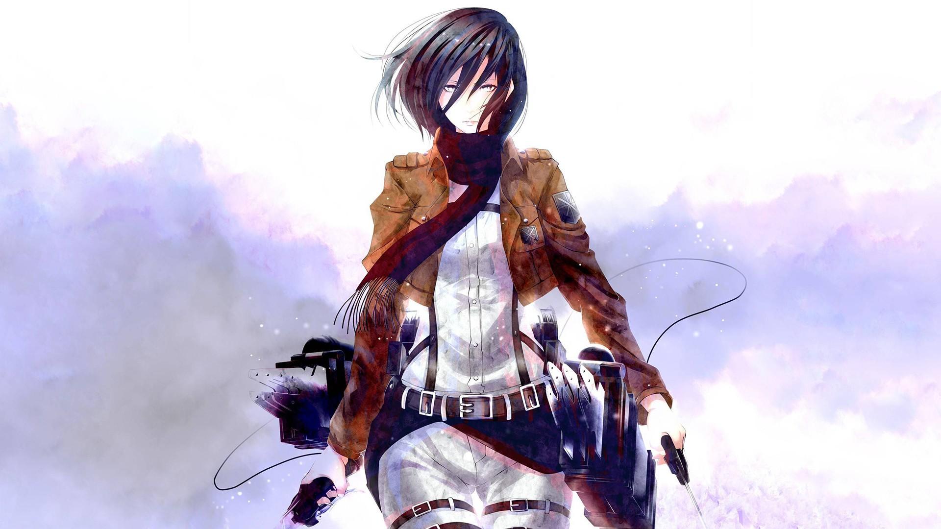 Wallpaper Illustration Anime Shingeki No Kyojin Mikasa