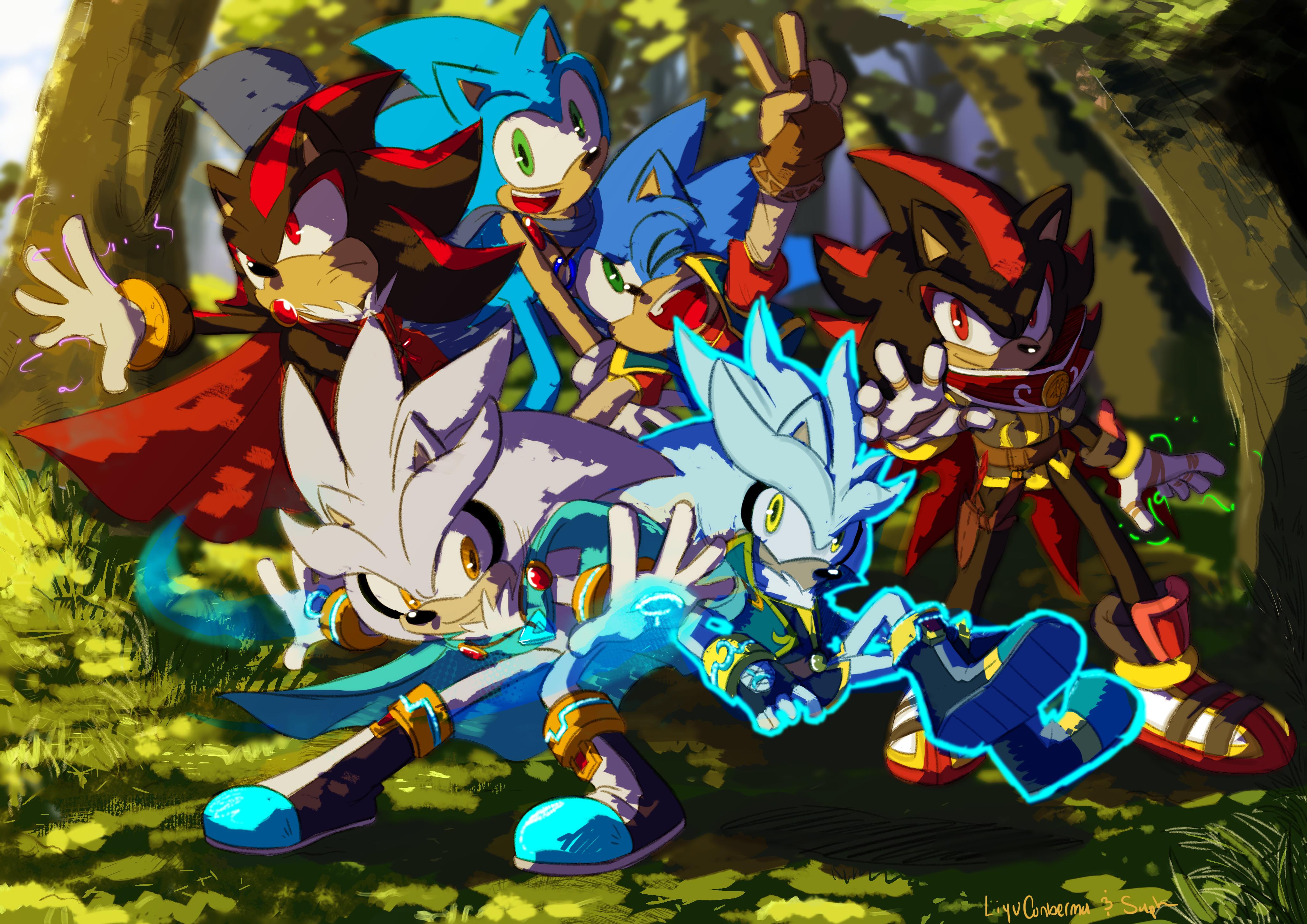 Wallpaper Illustration Anime Sonic The Hedgehog