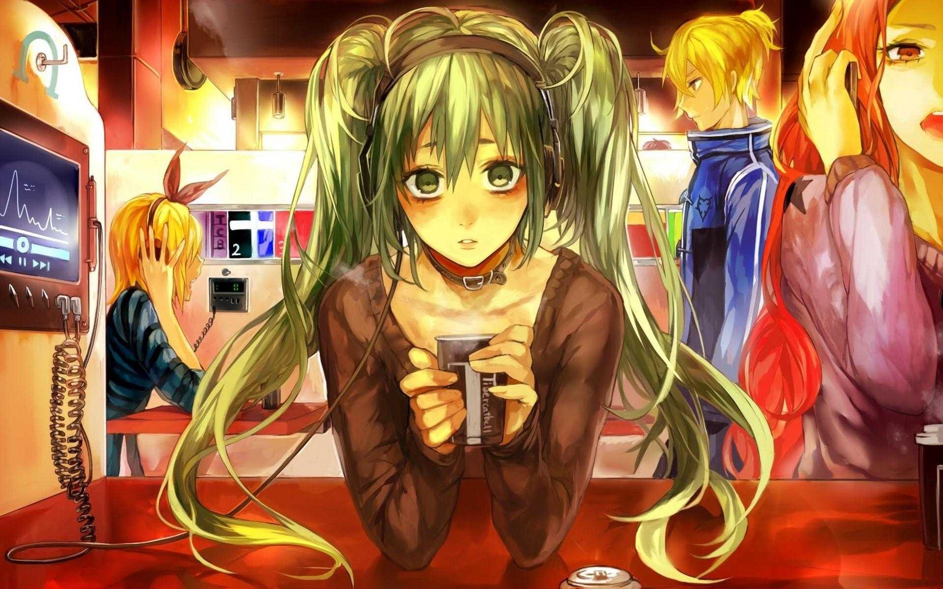 Wallpaper Illustration Anime Vocaloid Hatsune Miku