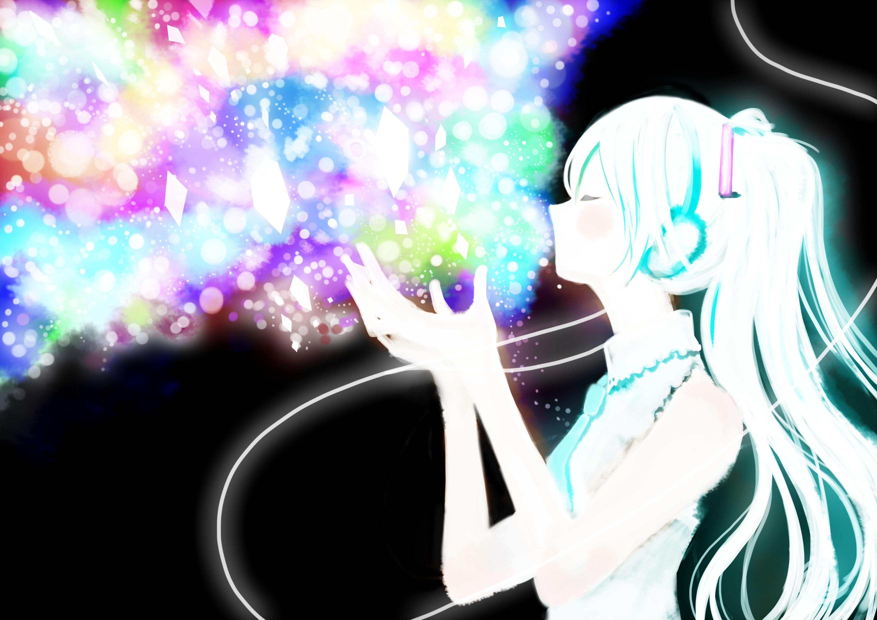 Illustration Anime Vocaloid Hatsune Miku Glitter Girl Screenshot Computer Wallpaper Mangaka