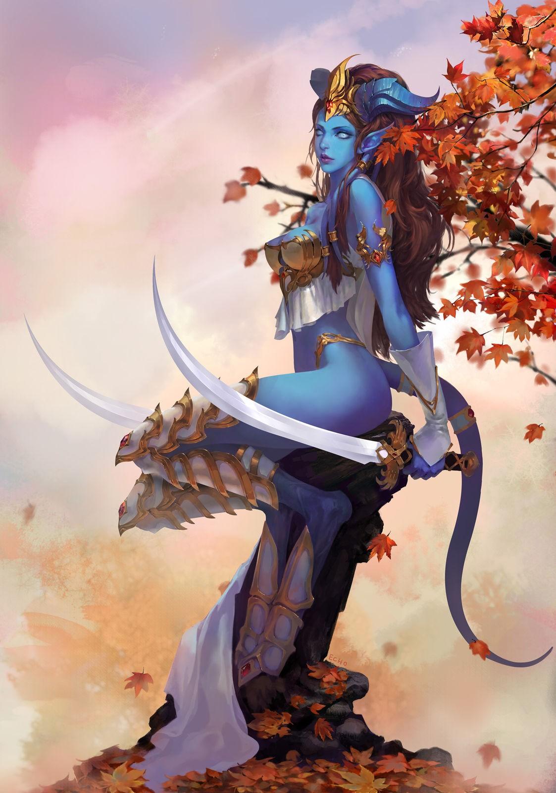 Draenei warrior female art pron pictures