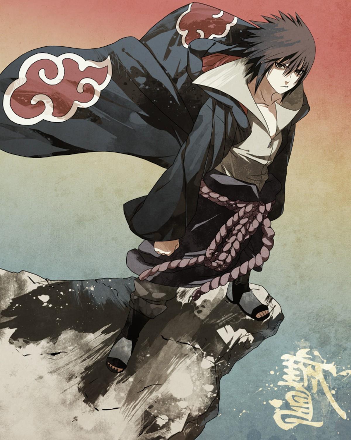 Wallpaper : illustration, anime boys, cliff, Naruto ...
