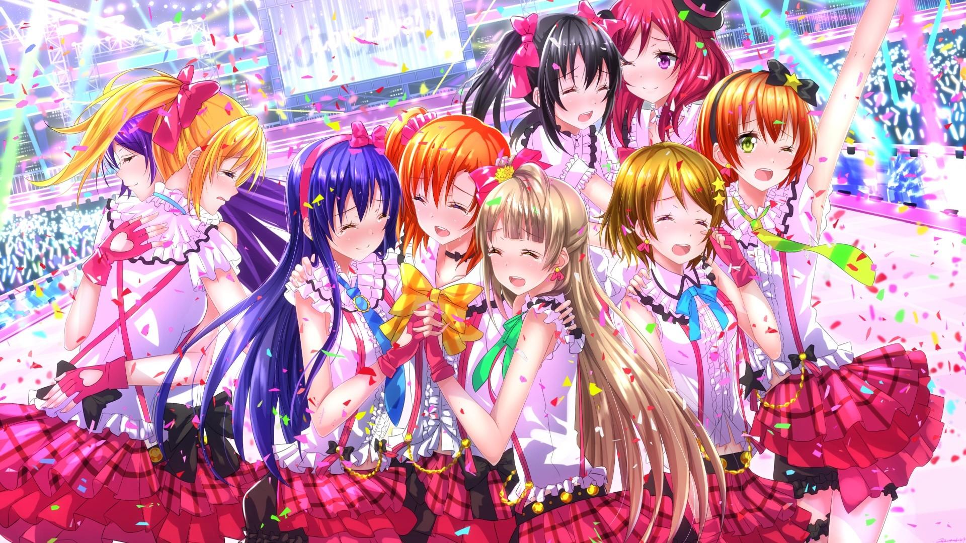 Illustration Anime Girls Love Live Yazawa Nico Nishikino Maki Minami Kotori Koizumi Hanayo Sonoda Umi