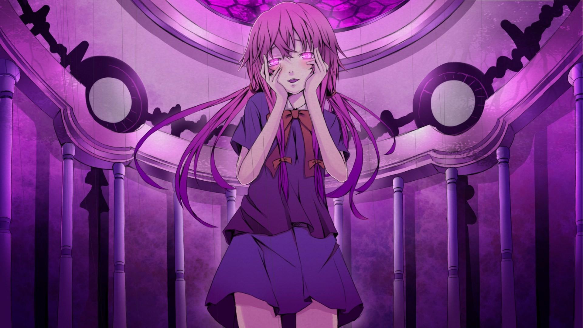 Mirai Nikki Gasai Yuno Yandere Anime Anime Girls: Wallpaper : Illustration, Anime Girls, Mirai Nikki, Gasai