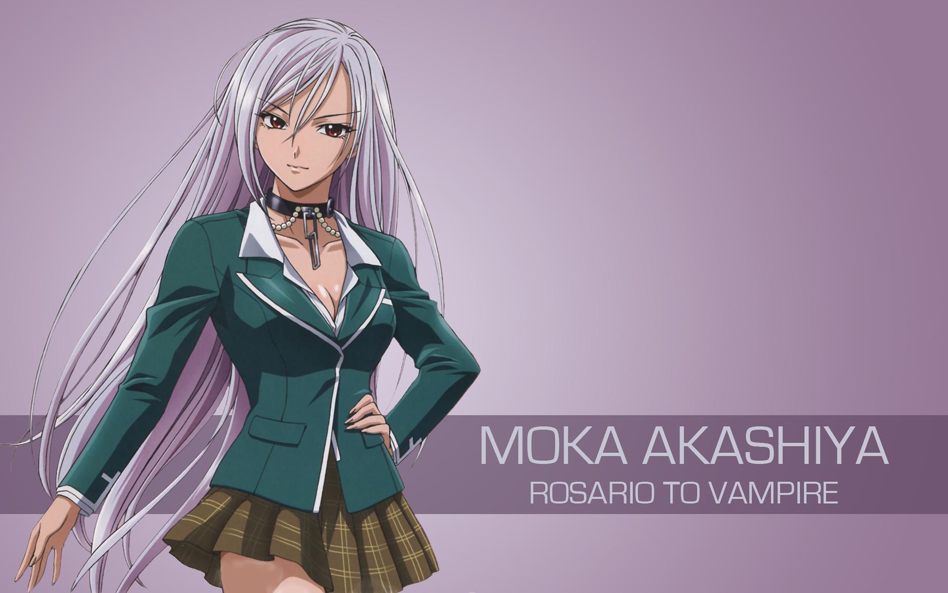Wallpaper Illustration Anime Girls Rosario Vampire Akashiya