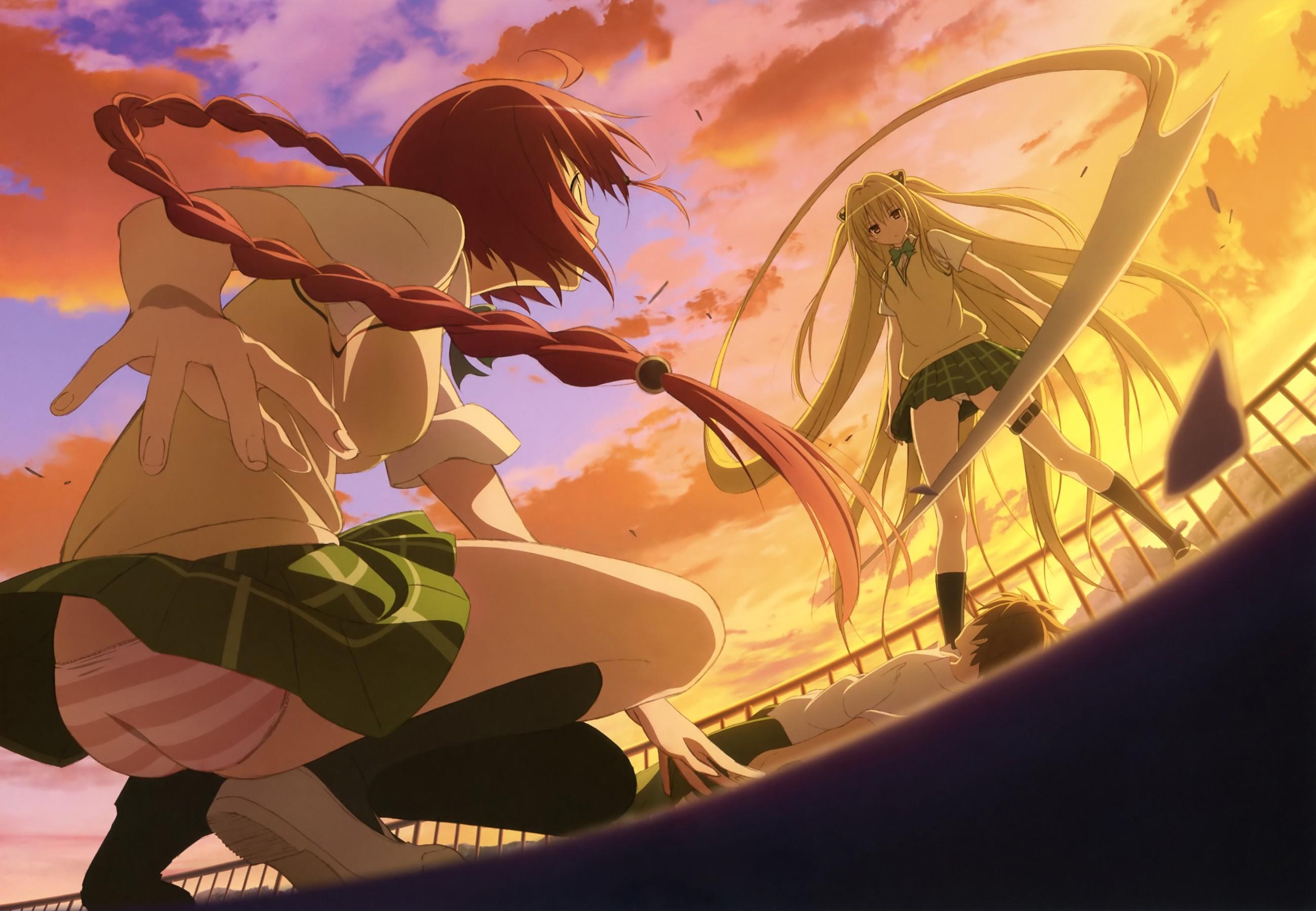 Wallpaper Illustration Anime Girls To Love Ru Golden Darkness