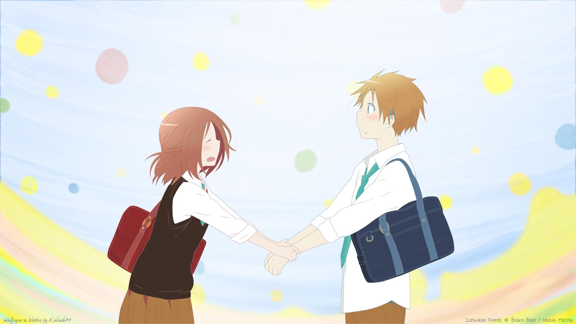 Аниме картинки девушки и парни дружба