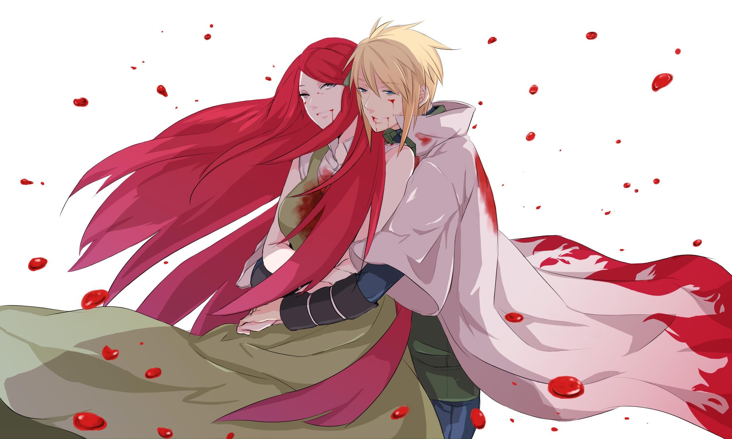 Illustration Anime Girls Boys Manga Cartoon Naruto Shippuuden Blood Namikaze Minato Hokage Wounds Uzumaki