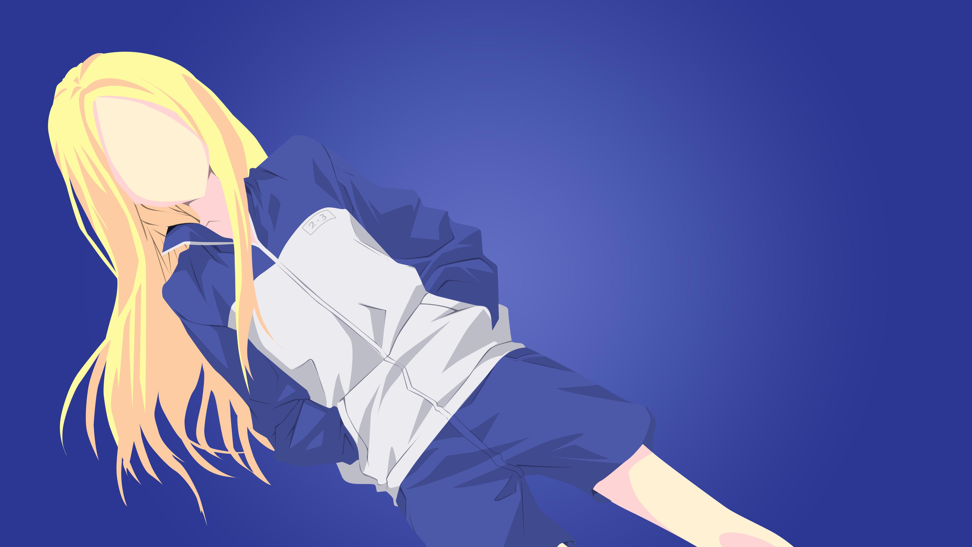 デスクトップ壁紙 図 アニメの女の子 青 漫画 ニノ荒川アンダー