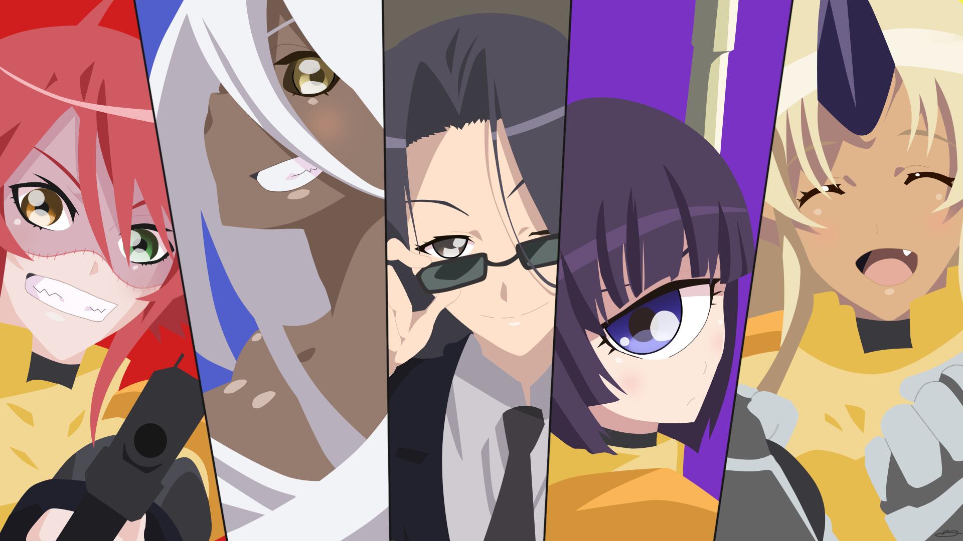 Sfondi illustrazione anime girls cartone animato monster