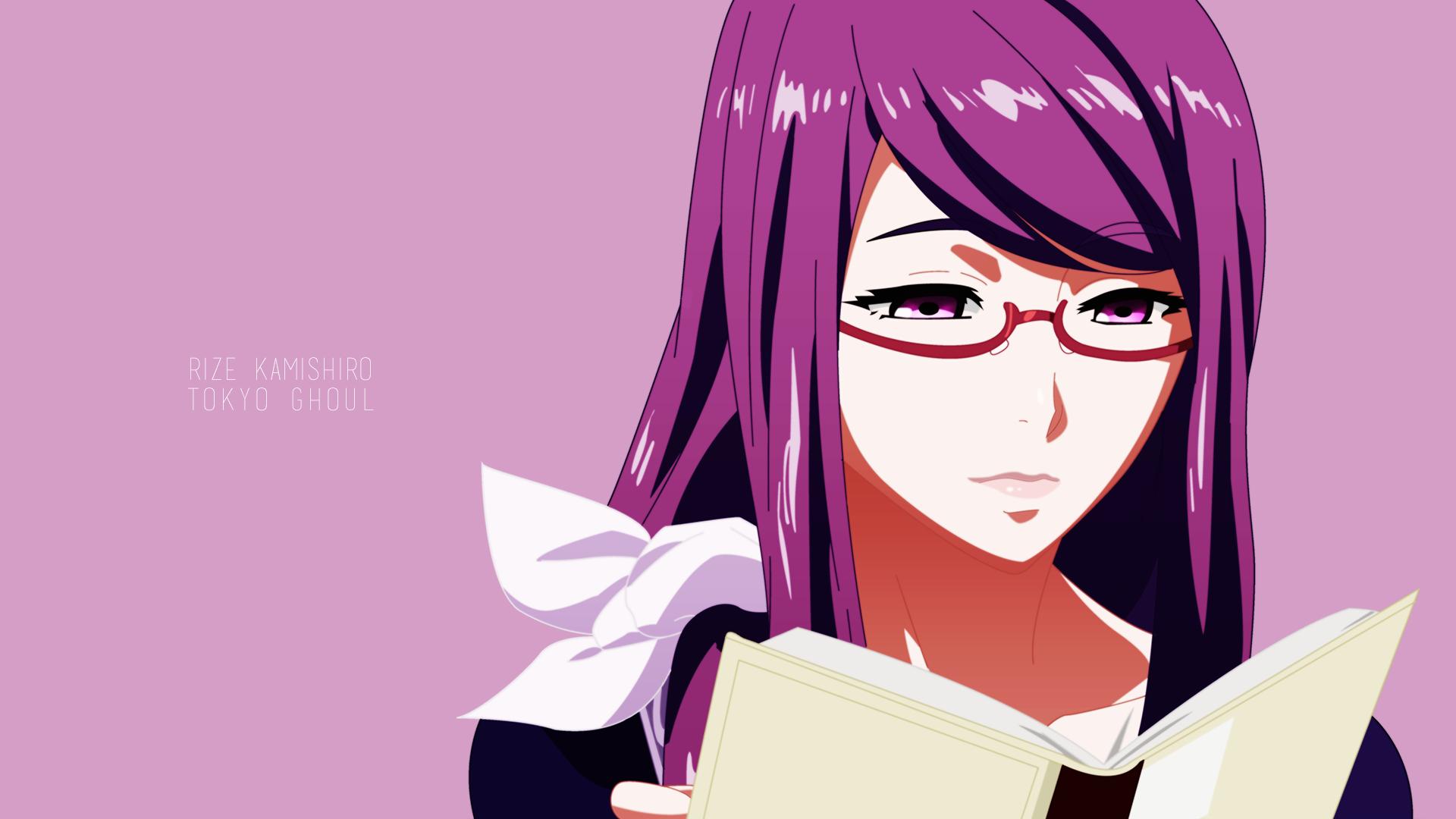 Wallpaper illustration anime girls glasses cartoon