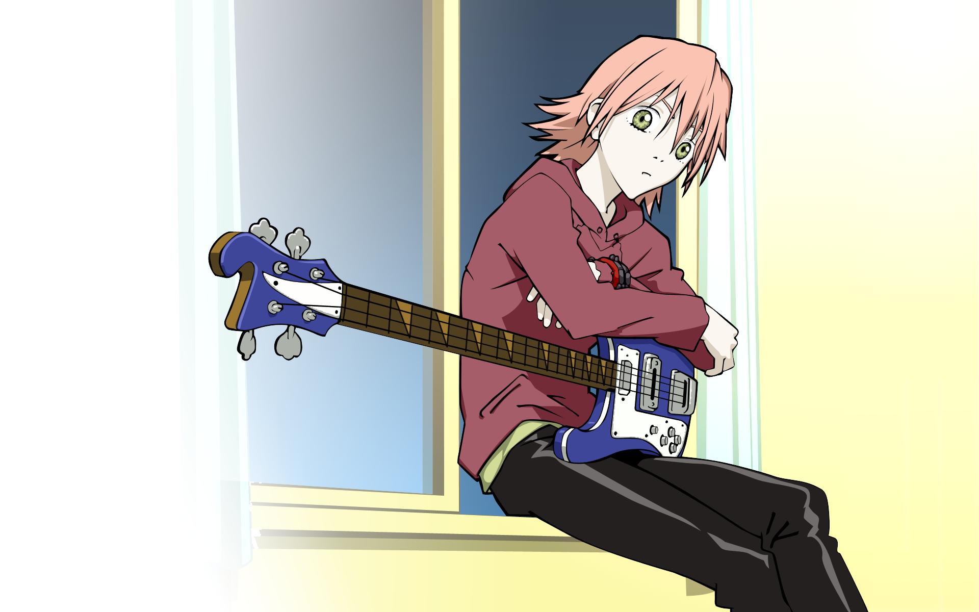Wallpaper Illustration Anime Girls Cartoon Flcl Haruhara