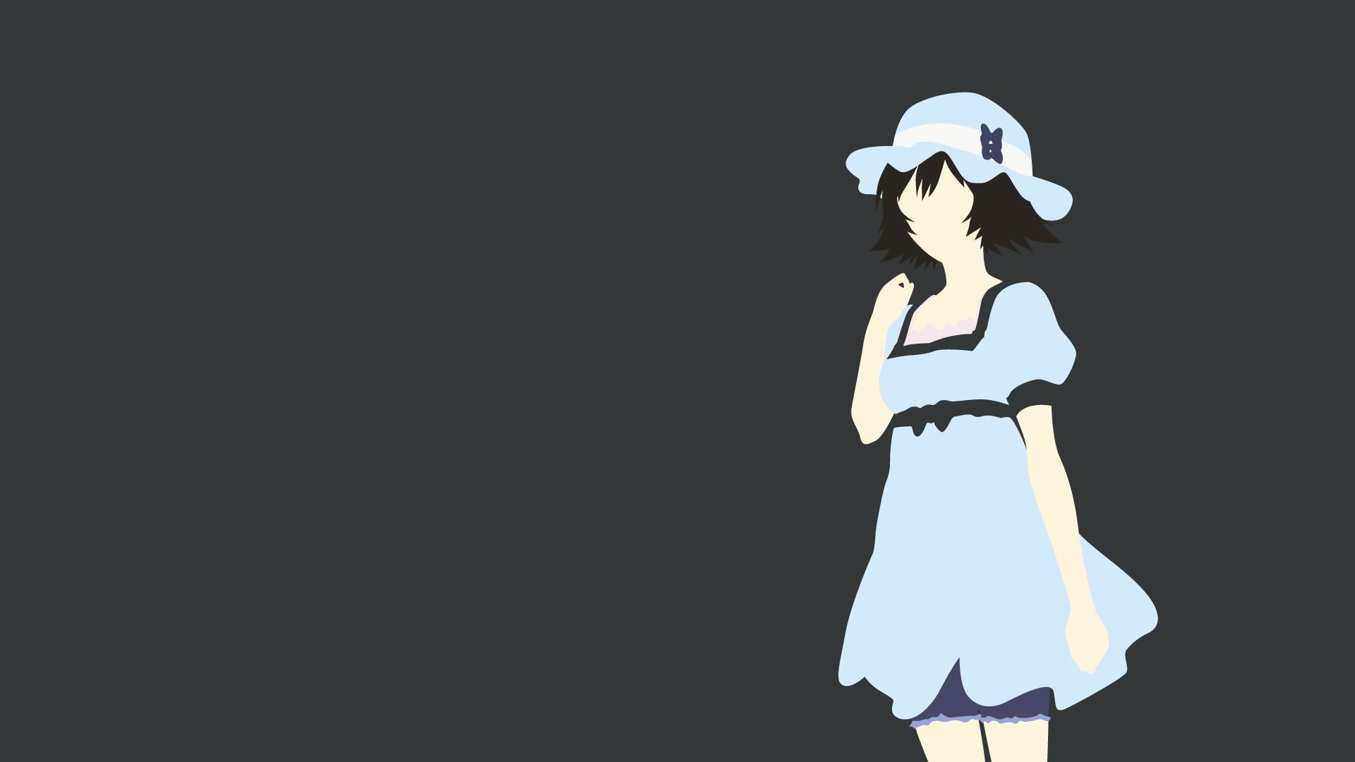 Wallpaper Illustration Anime Girls Minimalism Artwork Cartoon