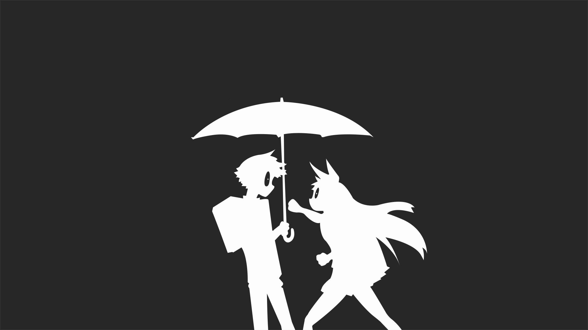 デスクトップ壁紙 図 アニメの女の子 ミニマリズム シルエット