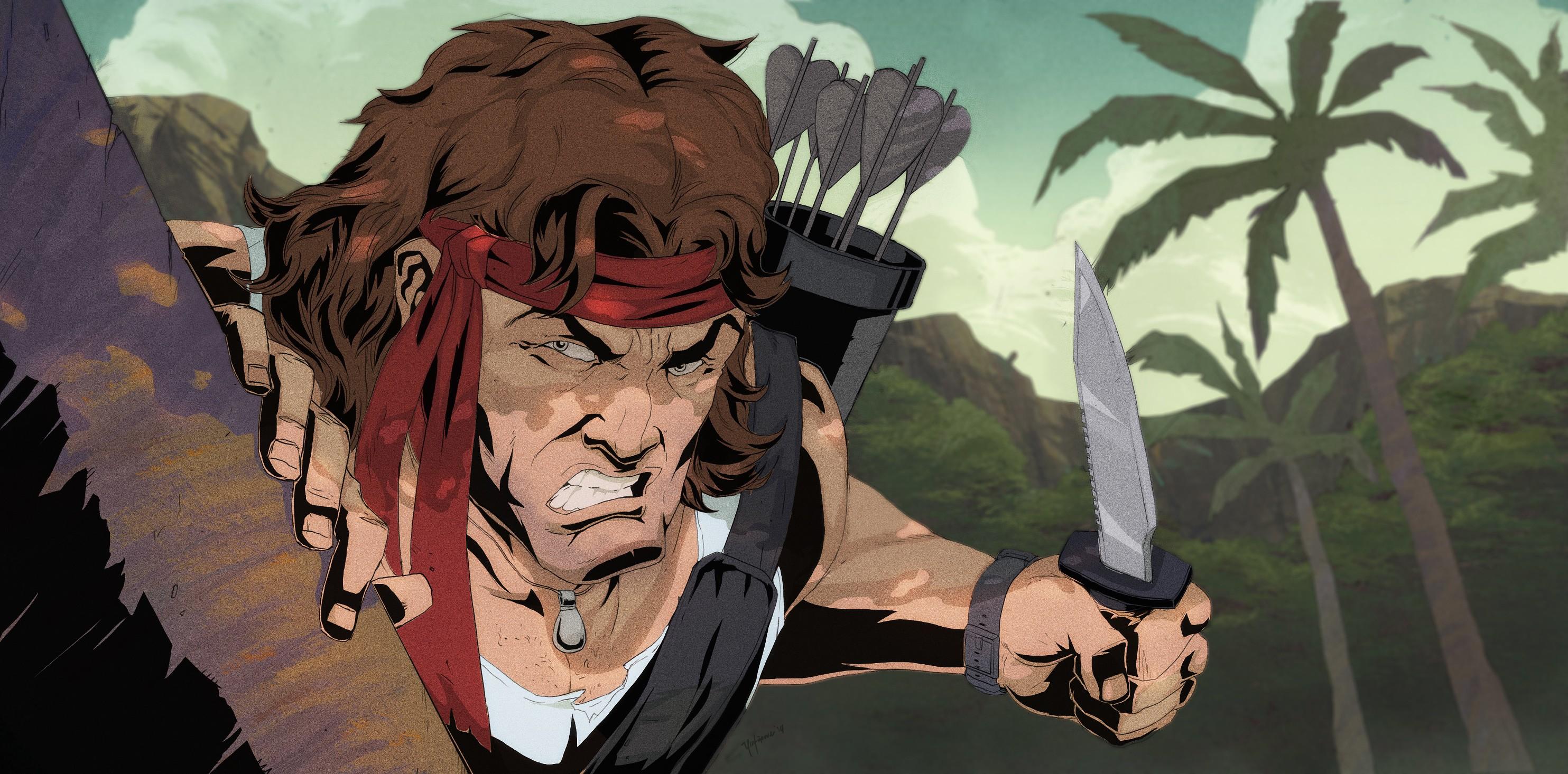 Fond d'écran : illustration, Anime, ouvrages d'art, Fan art, des bandes dessinées, Rambo ...