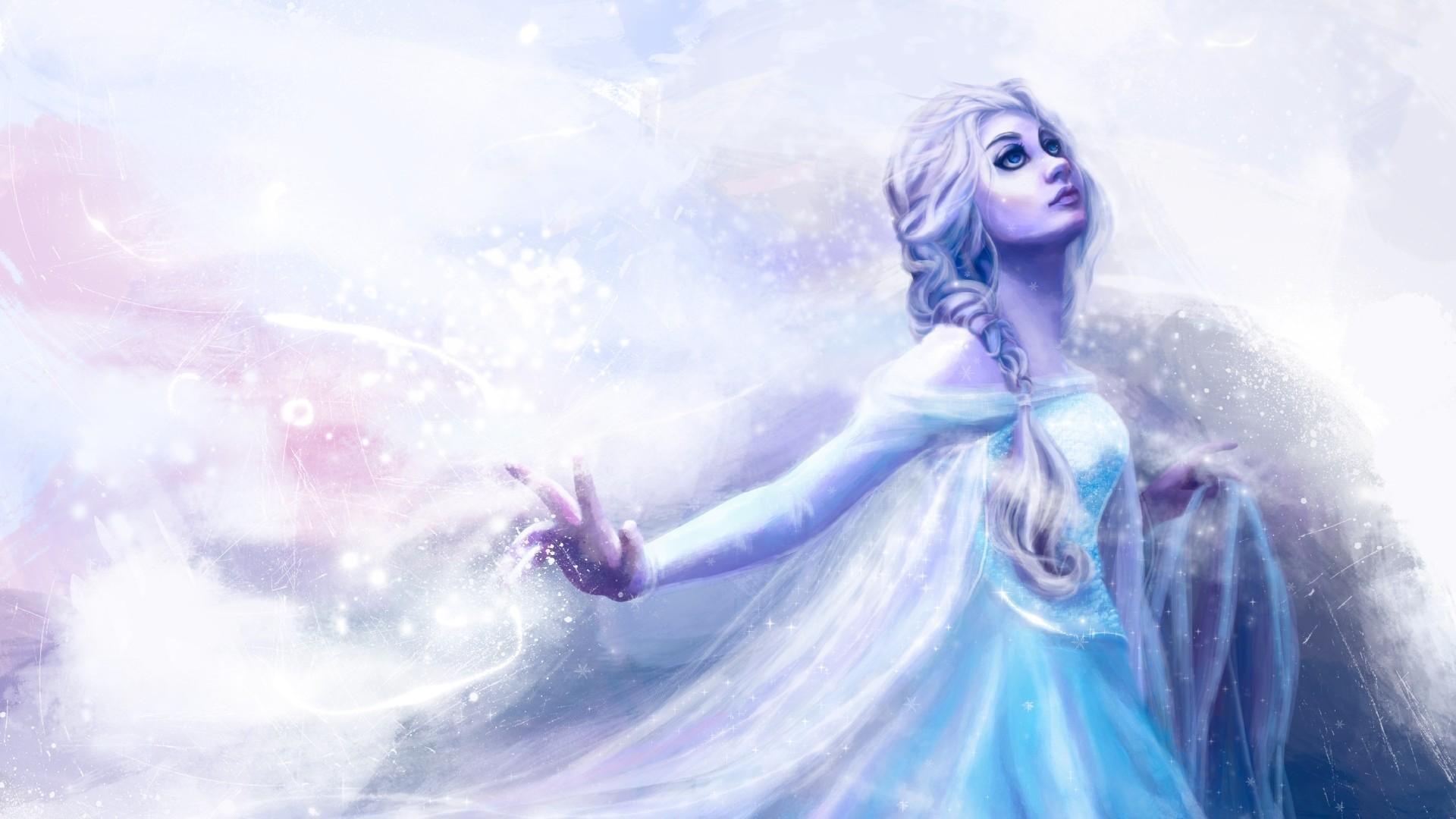 wallpaper : illustration, anime, artwork, blue, frozen movie