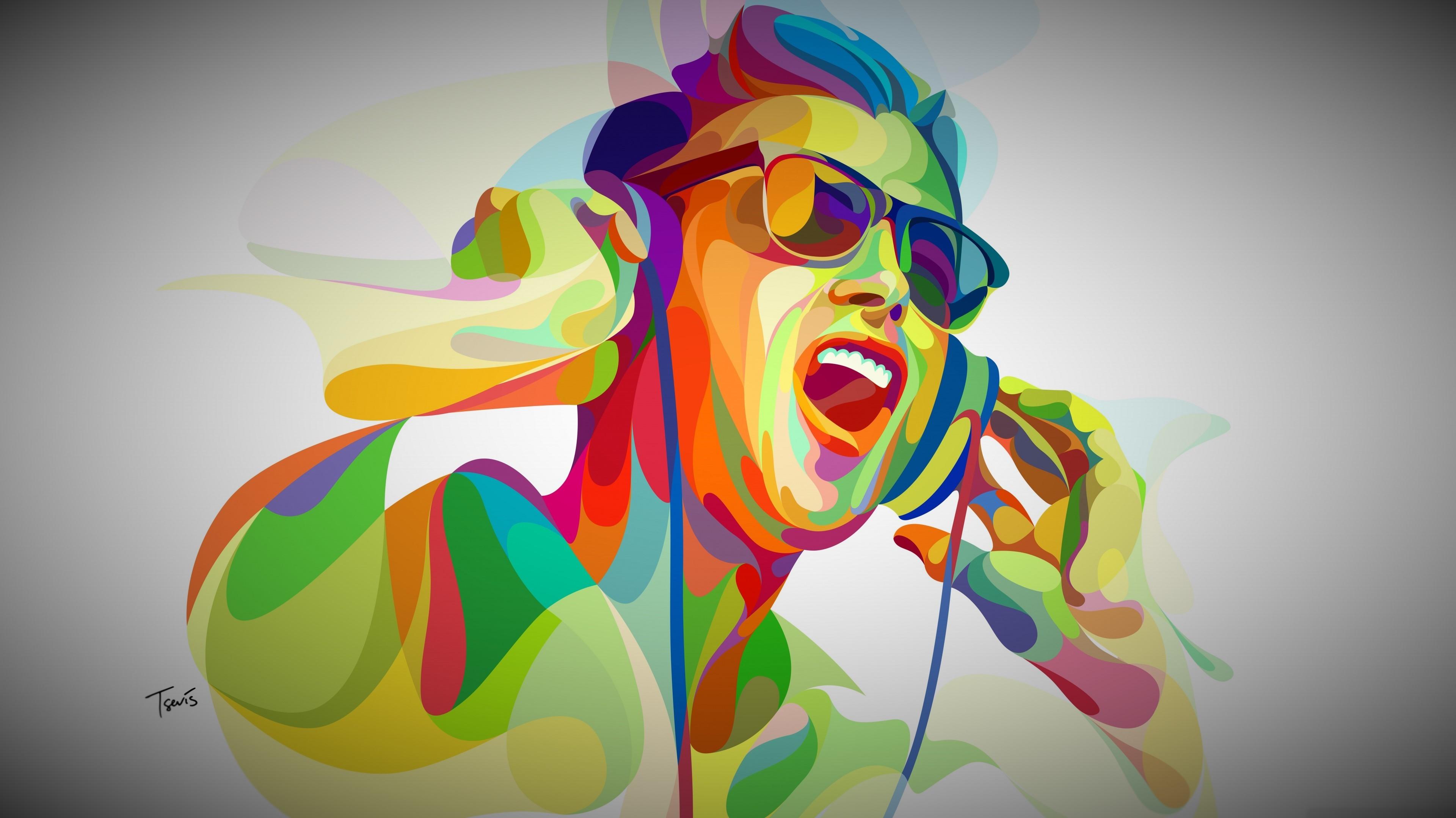 Wallpaper Illustration Anime Artwork Yellow Pop Music Art