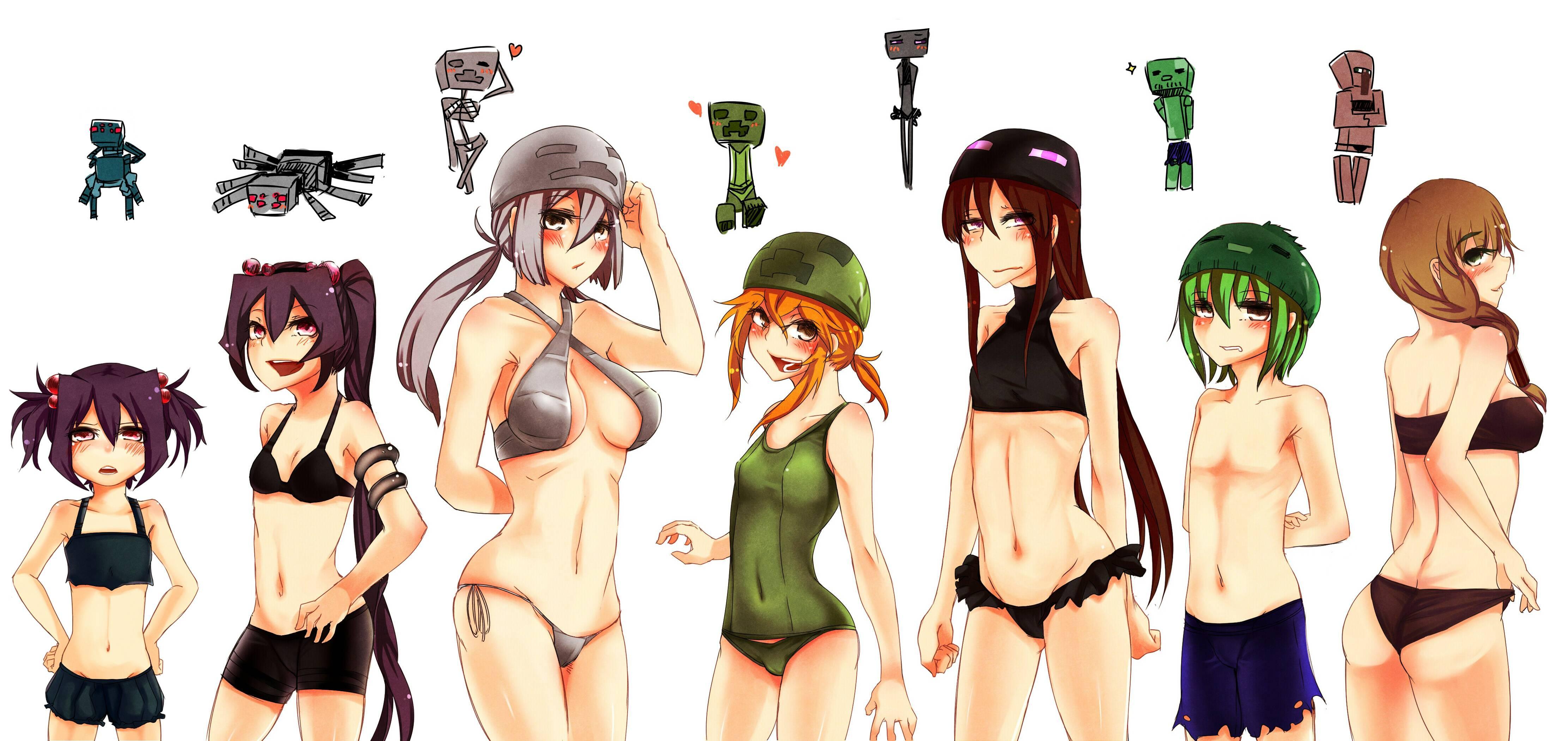 Майнкрафт голые девушки