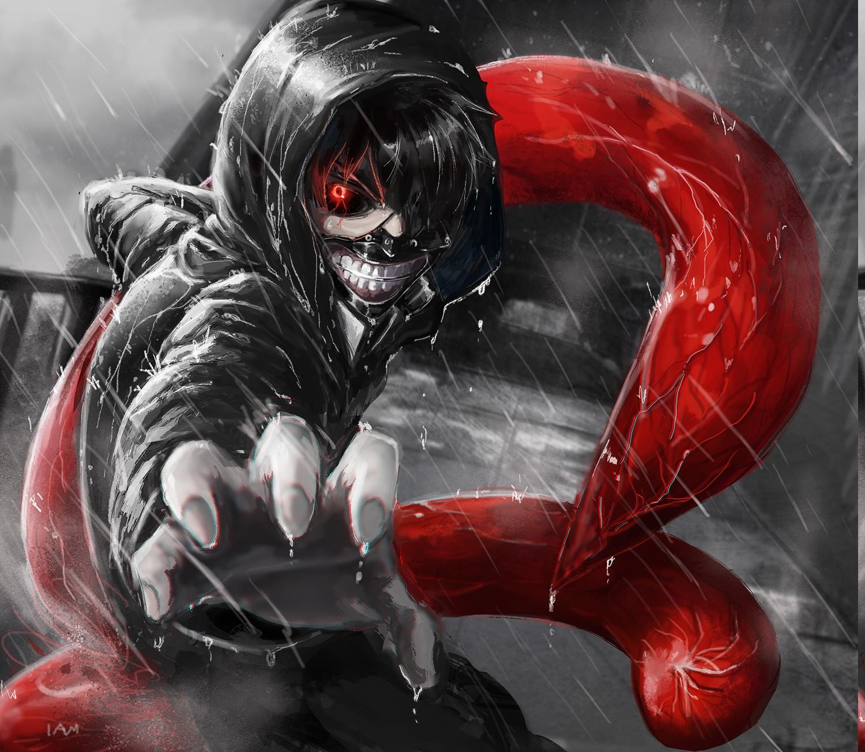 Fond d'écran : illustration, Anime, du sang, Kaneki Ken, Tokyo Ghoul, Papier peint de l ...