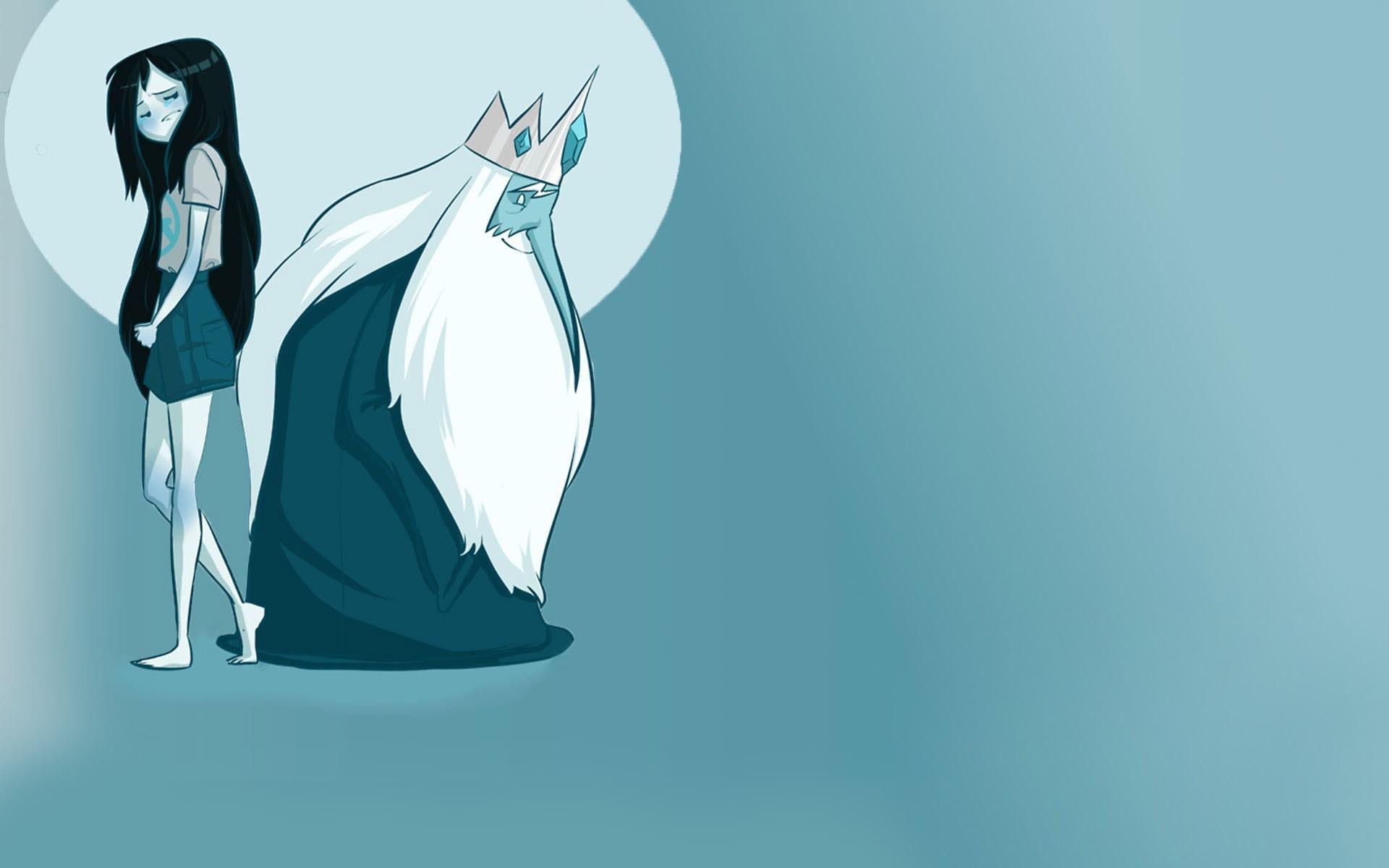 Illustration Anime Blue Cartoon Adventure Time Ice King Marceline The Vampire Queen Computer Wallpaper