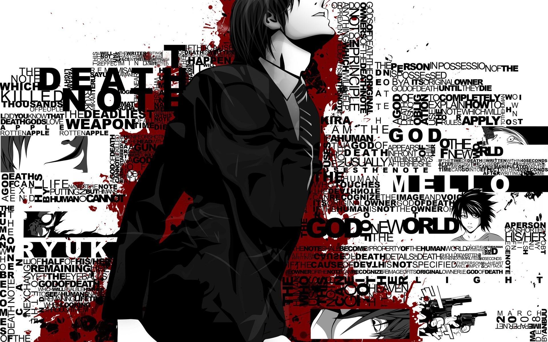 Wallpaper Illustration Anime Boys Typography Cartoon Comics Poster Death Note Yagami Light Font Album Cover Comic Book 1920x1200 Raga 240694 Hd Wallpapers Wallhere