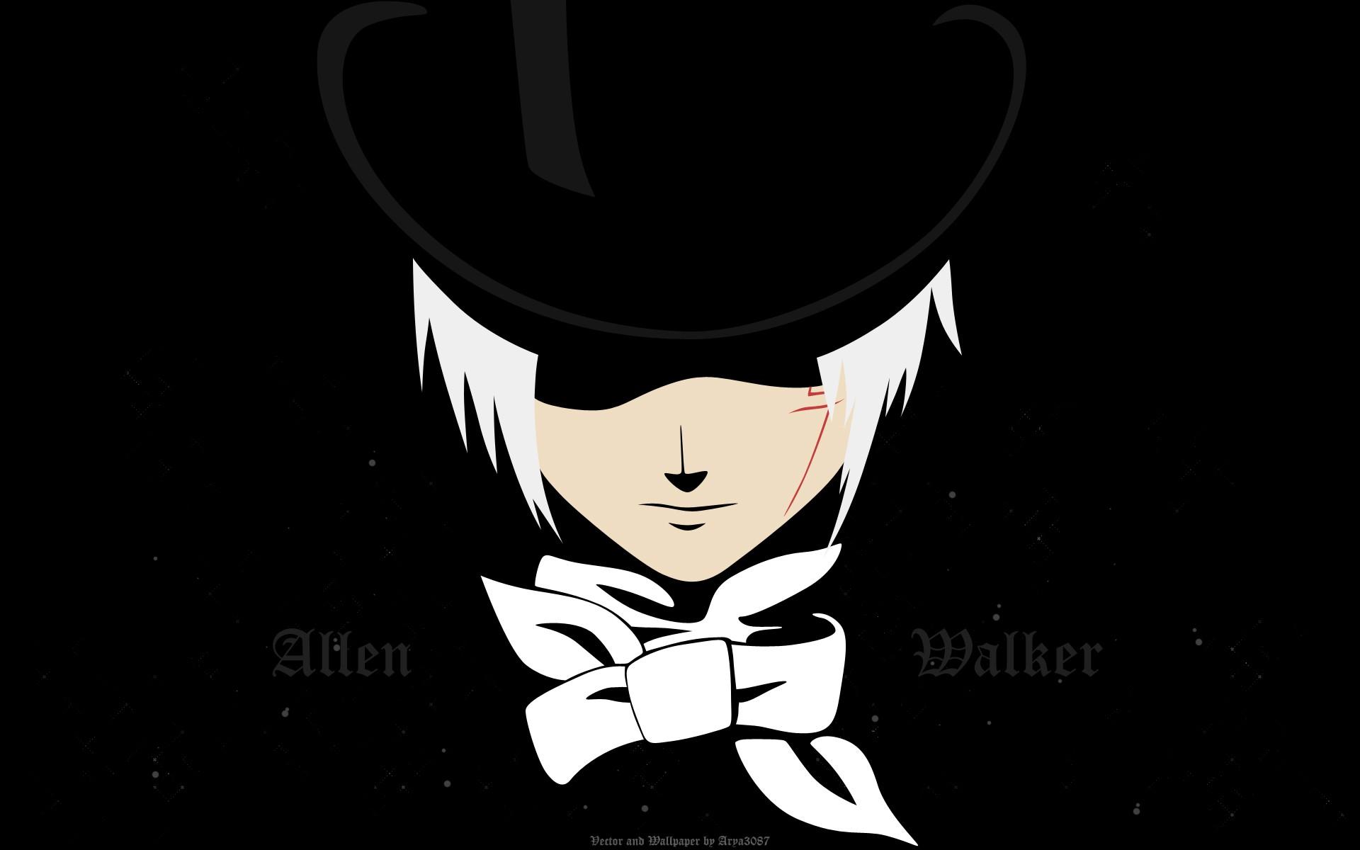 hình minh họa Anime hoạt hình D Người đàn ông xám Allen Walker phông chữ Mangaka