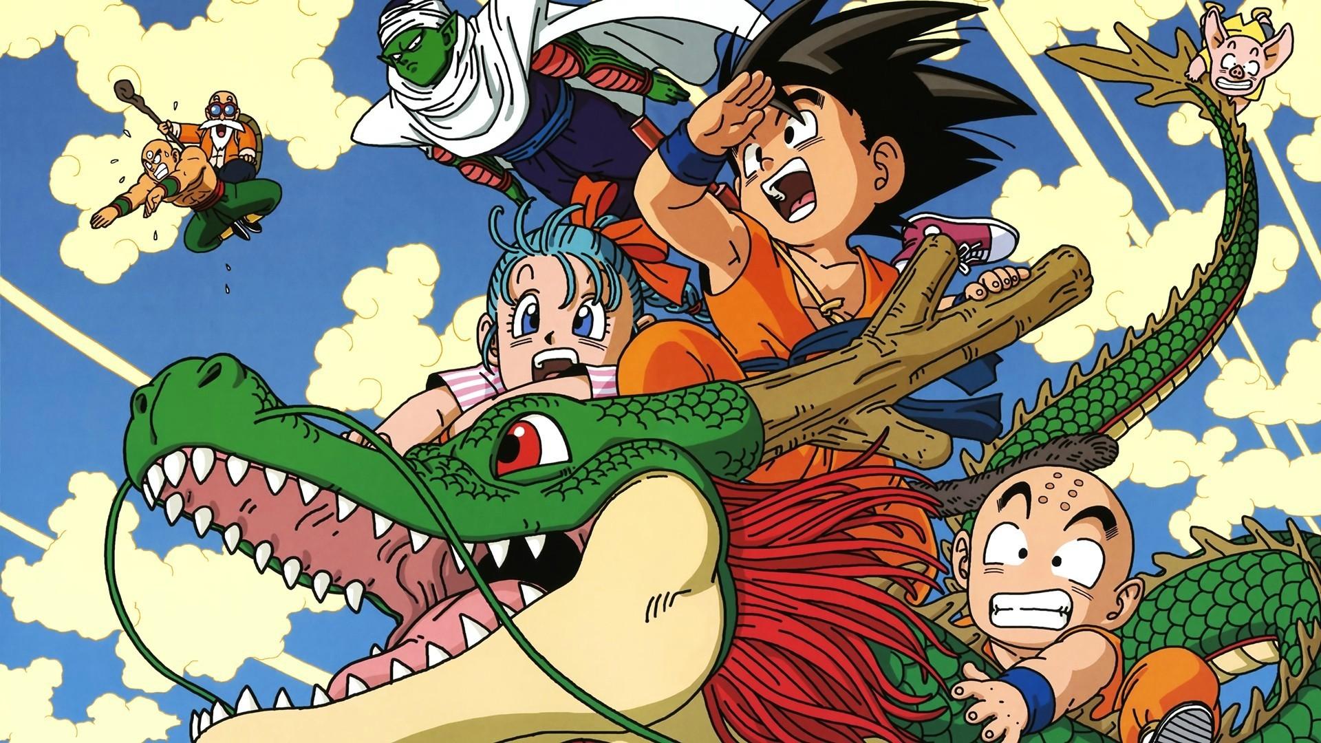 Illustration Anime Karikatur Dragon Ball Z Comics Mythologie Bulma Piccolo Muten Roshi Kid Goku Krillin Erfundener