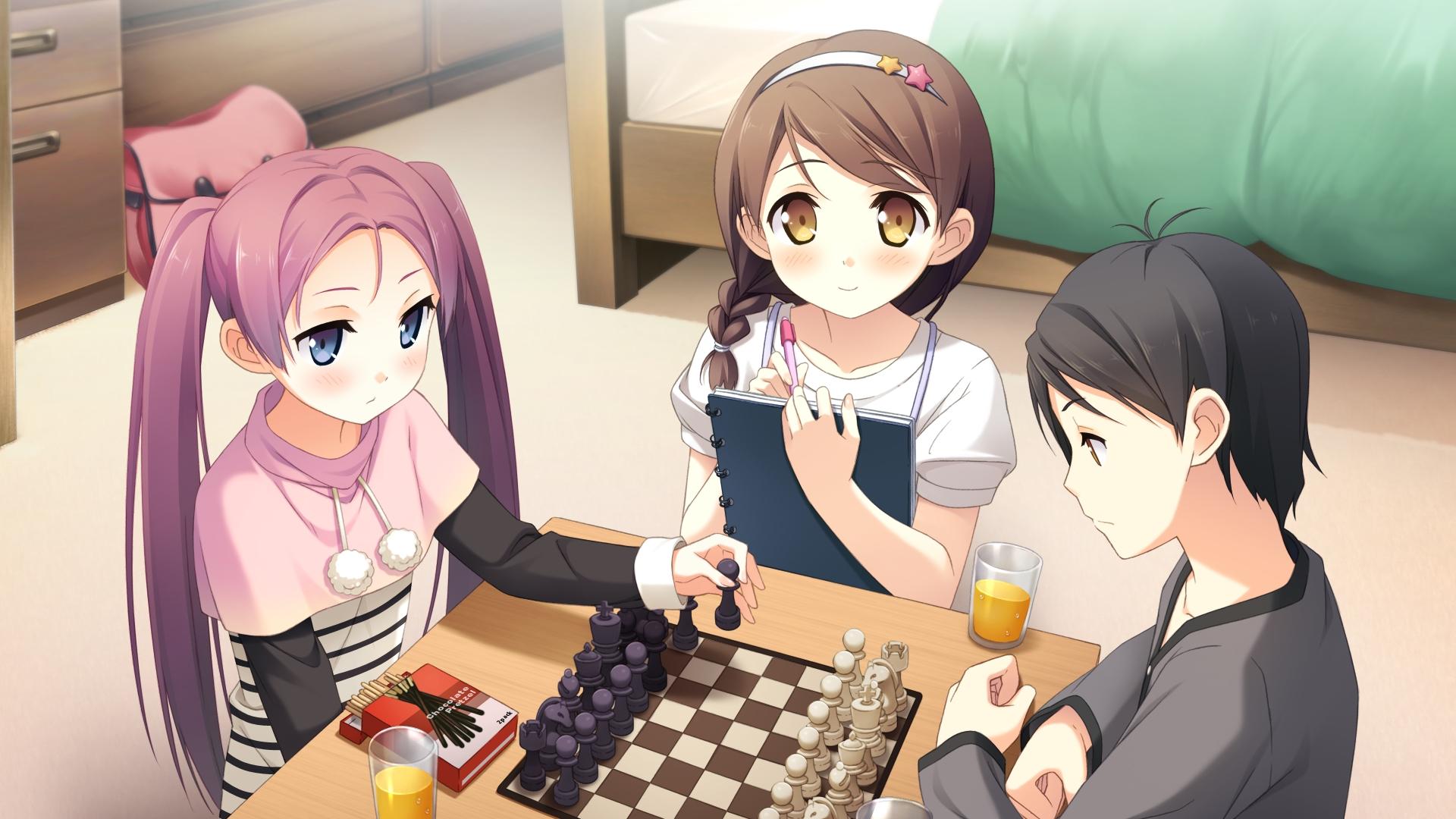 Sfondi : illustrazione anime cartone animato kantoku scacchi
