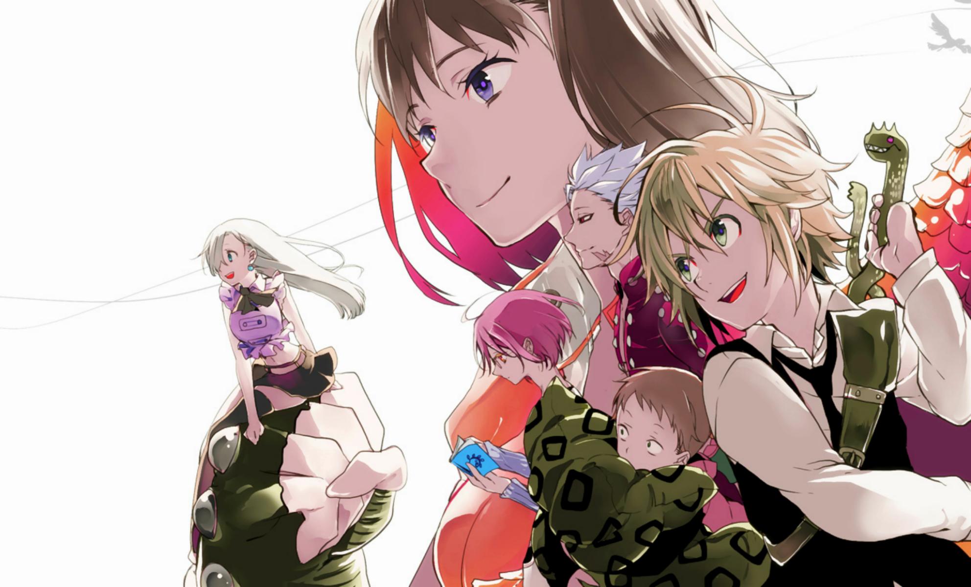 Sfondi illustrazione anime cartone animato nanatsu non taizai