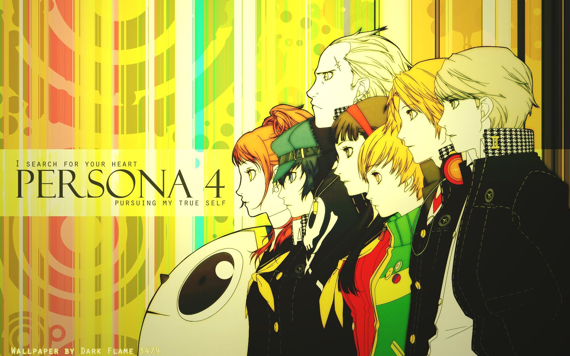 Wallpaper : illustration, anime, cartoon, Narukami Yuu, Persona 4 ...