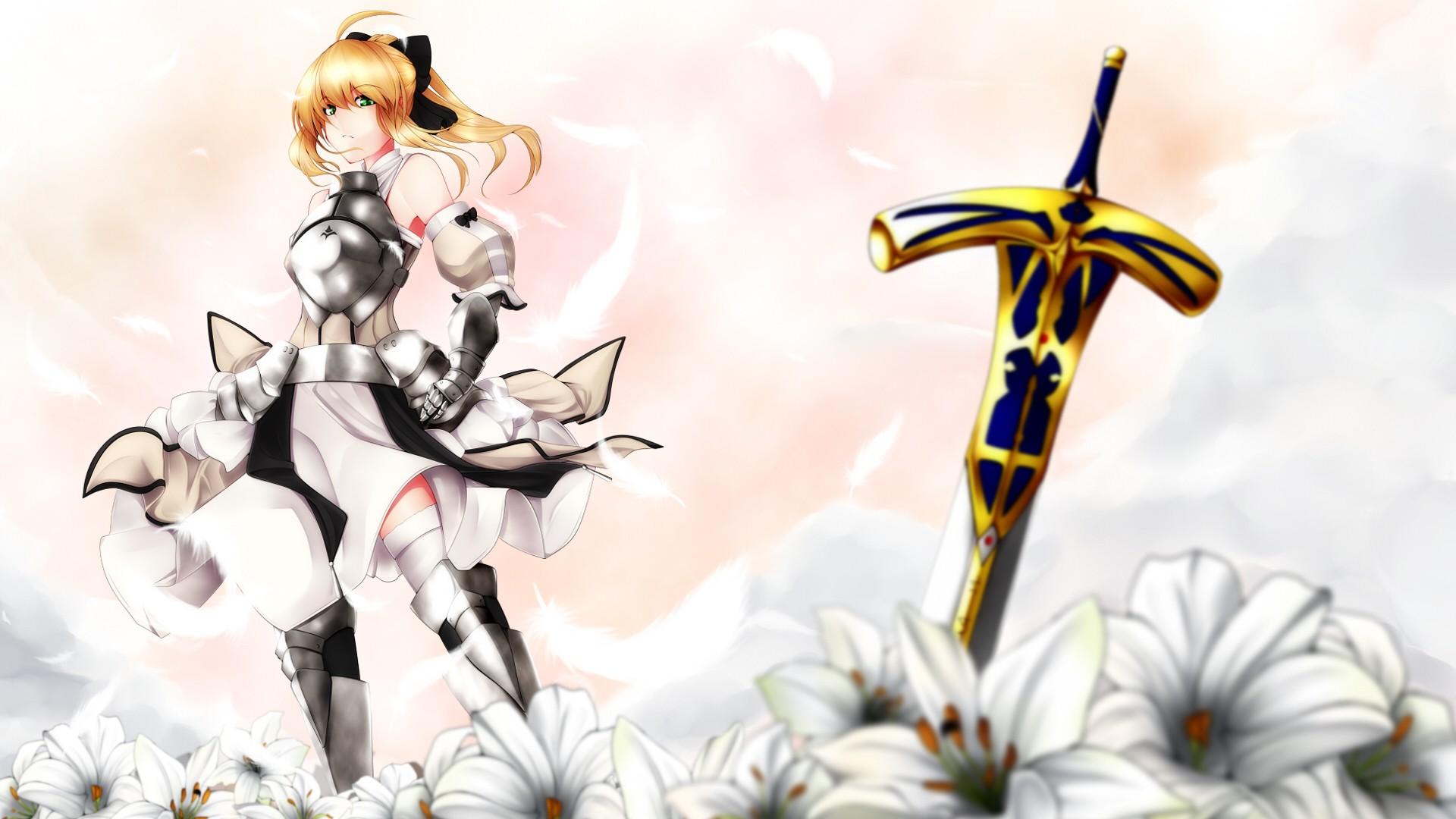 Wallpaper illustration anime cartoon fate series saber lily illustration anime cartoon saber fate series saber lily flower izmirmasajfo