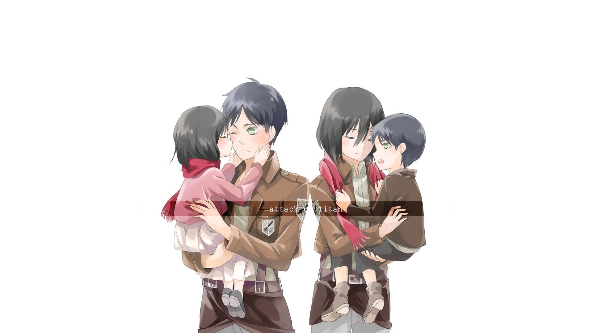 Wallpaper Illustration Anime Cartoon Shingeki No Kyojin Eren Jeager Mikasa Ackerman Toy Figurine Mangaka 1920x1080 Bjuandy 82415 Hd Wallpapers Wallhere