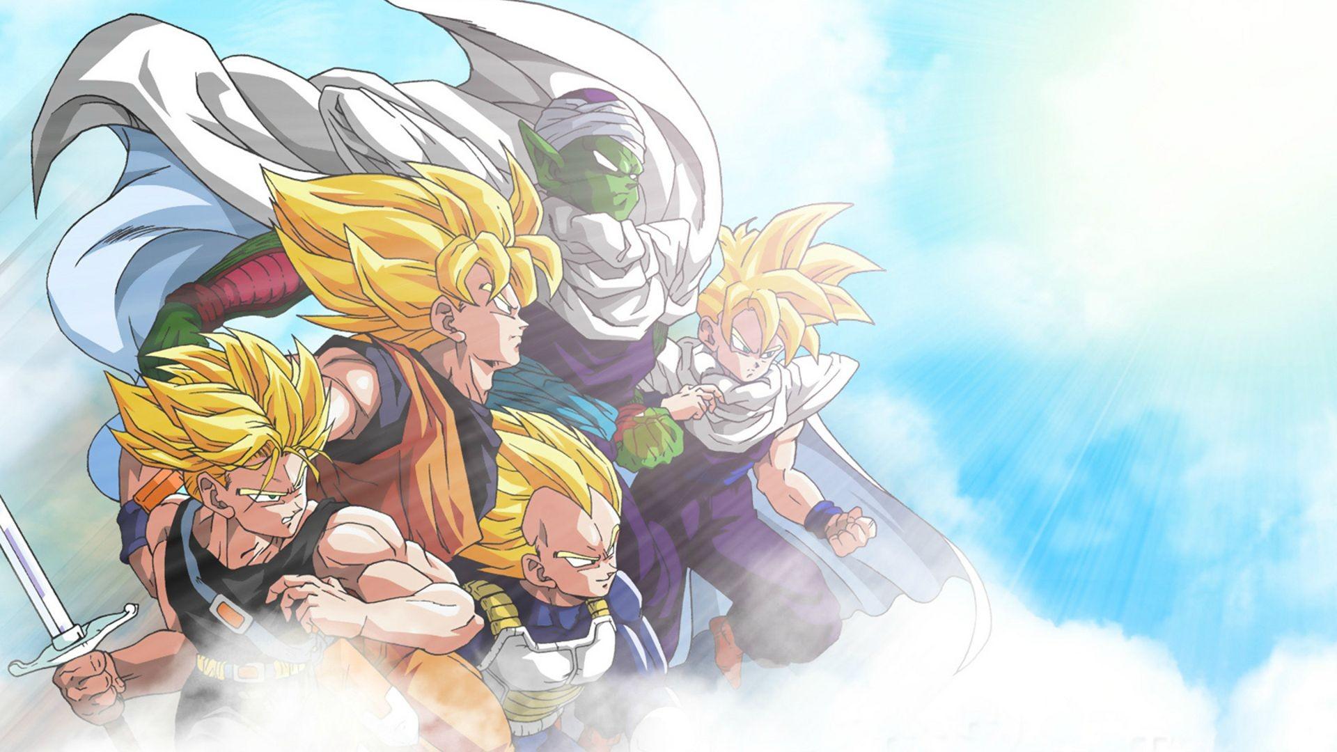 wallpaper : illustration, anime, cartoon, son goku, gohan, dragon