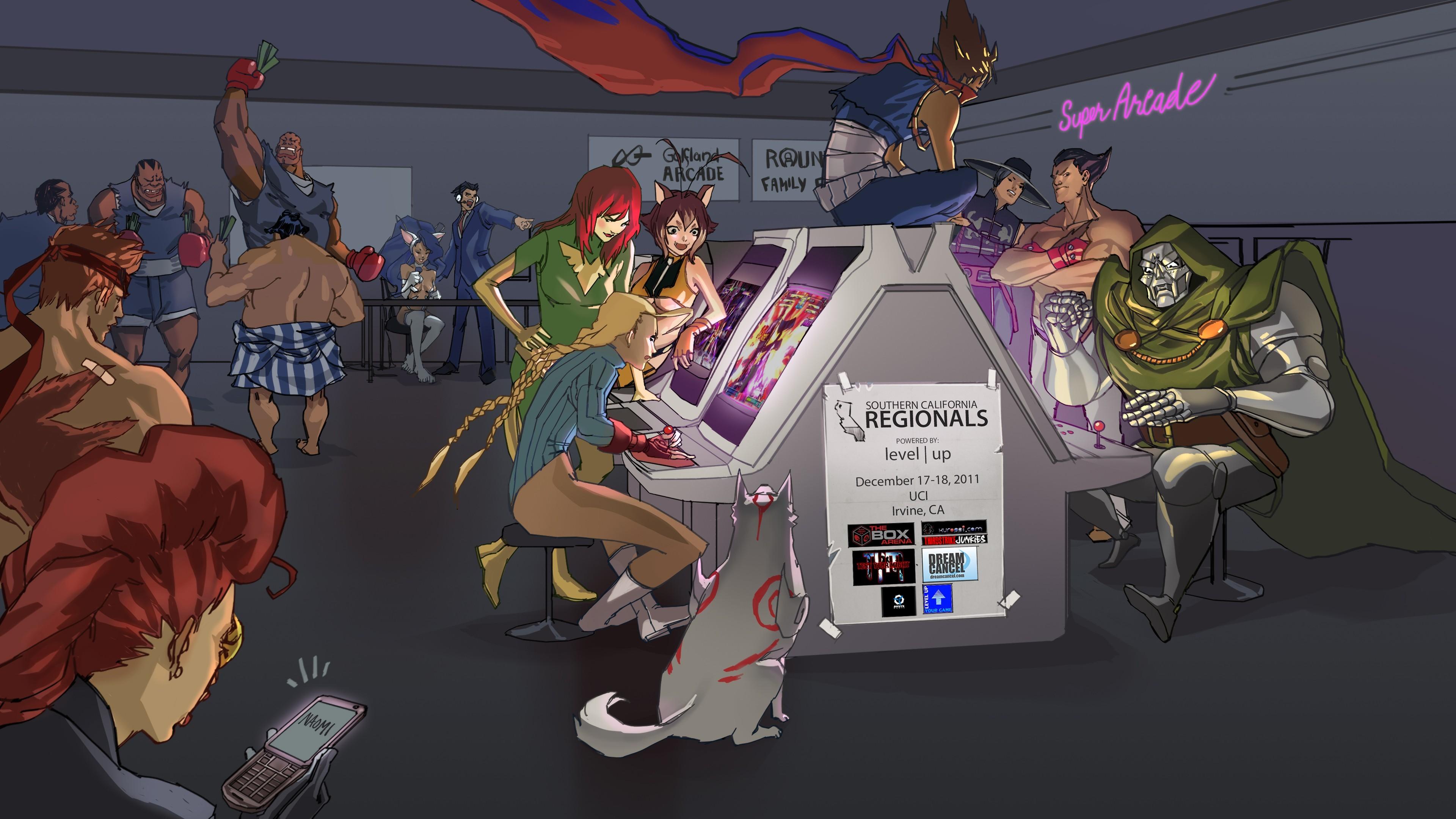 Wallpaper : illustration, anime, cartoon, Street Fighter, comics