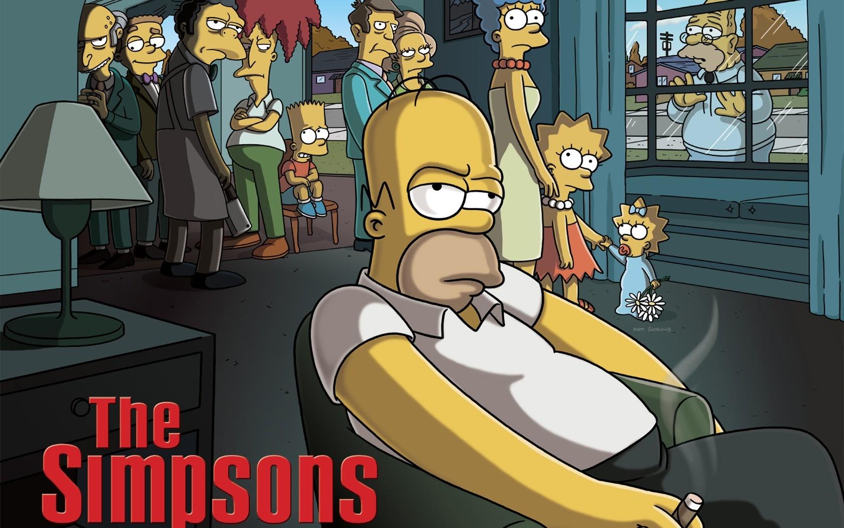 Ilustrasi anime gambar kartun simpsons parodi televisi komik homer simpson bart simpson marge simpson lisa simpson
