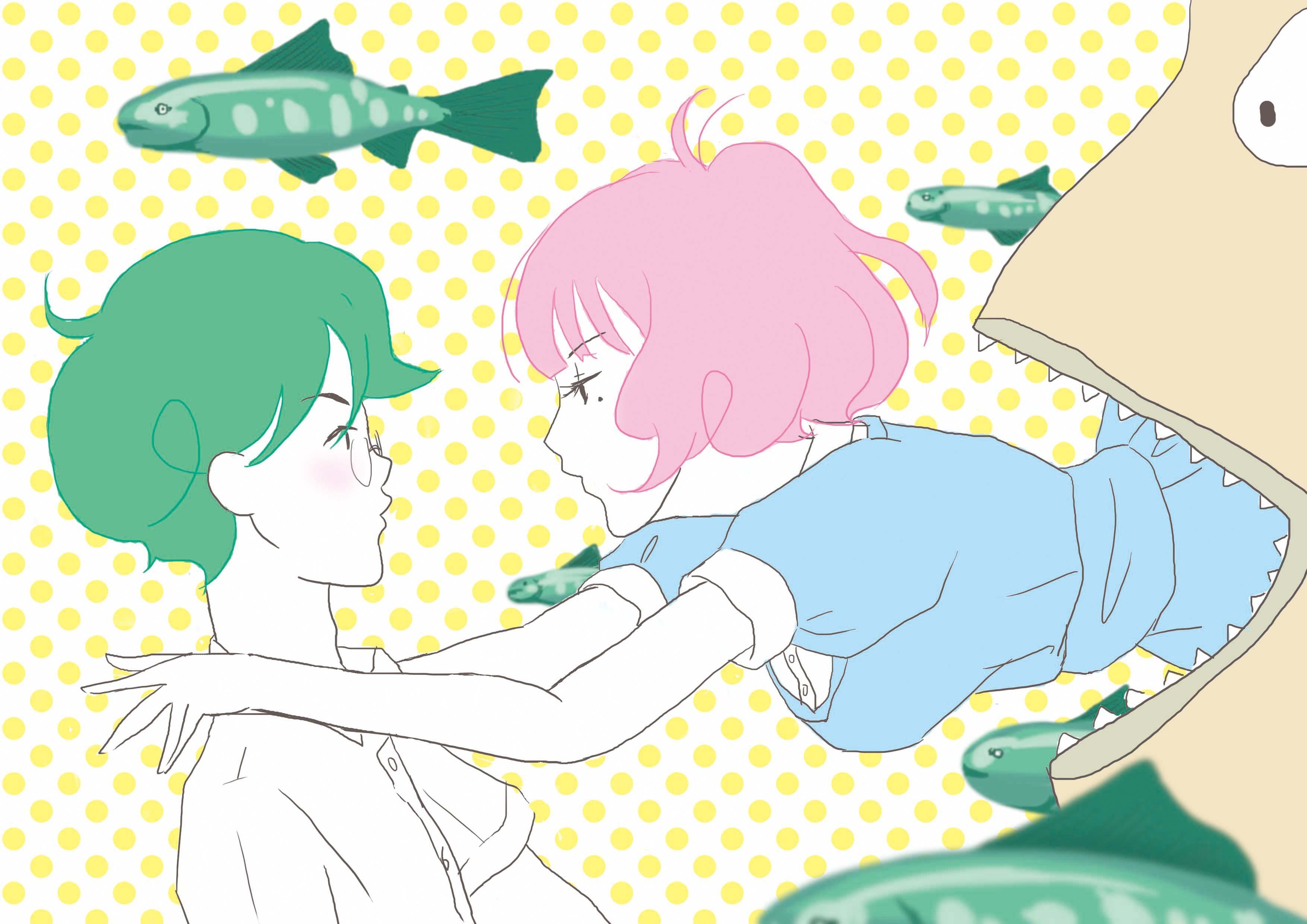 illustration anime cartoon The Tatami Galaxy Akashi Yojouhan Shinwa Taikei Watashi play line font product clip art 182303