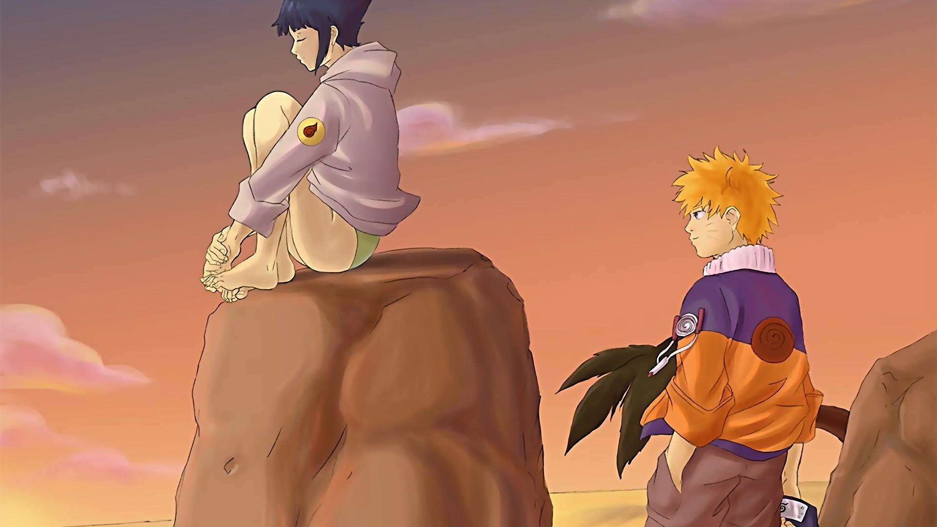 Wallpaper Illustration Anime Cartoon Boy Girl Naruto