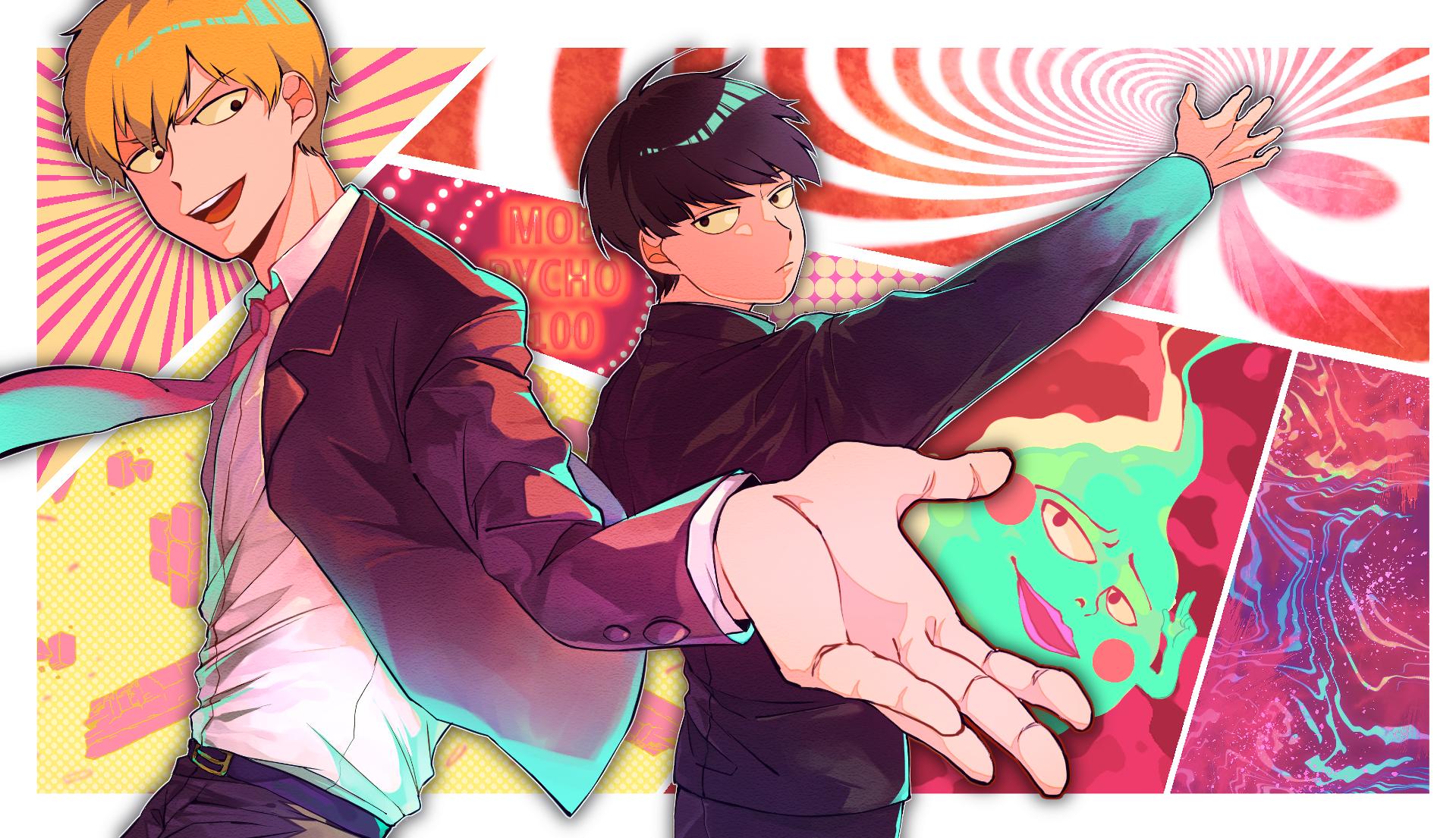 Wallpaper Illustration Anime Cartoon Comics Mob Psycho 100