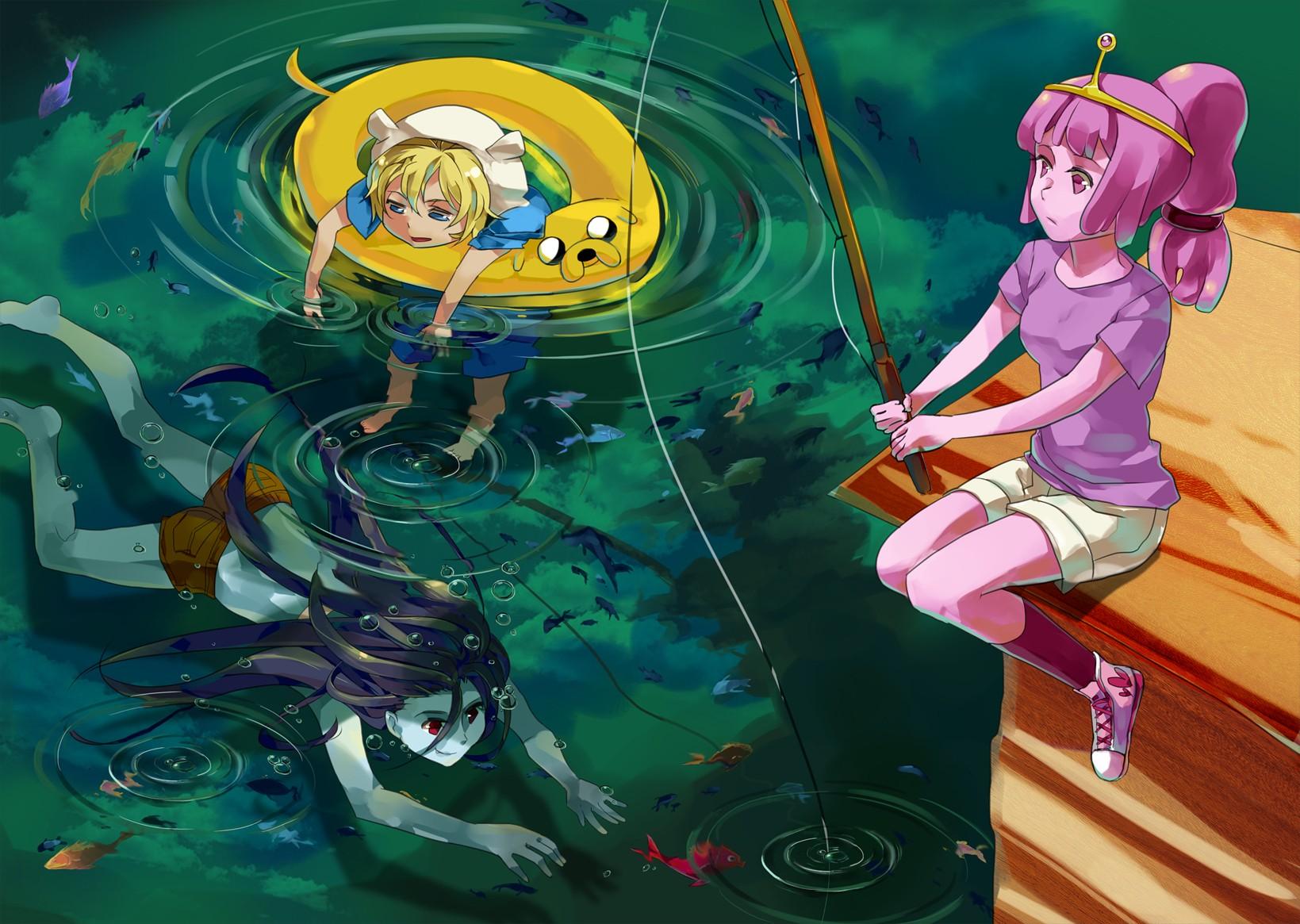 Anime Adventure Time Pictures wallpaper : illustration, anime, cartoon, fan art, comics