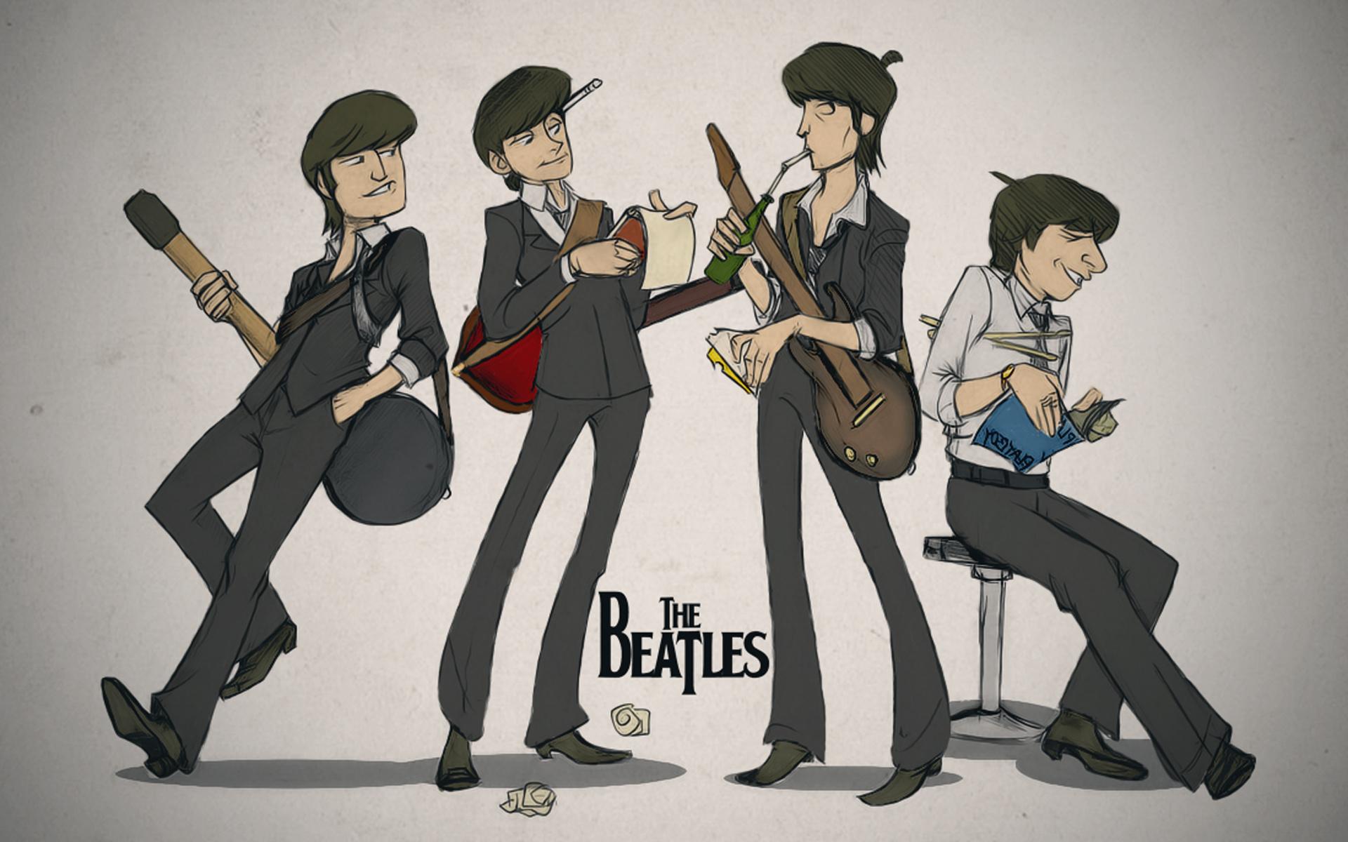 Wallpaper Illustration Anime Cartoon Musician The Beatles Ringo Starr Guitarist John Lennon Paul Mccartney George Harrison Art 1920x1200 Coolwallpapers 579485 Hd Wallpapers Wallhere