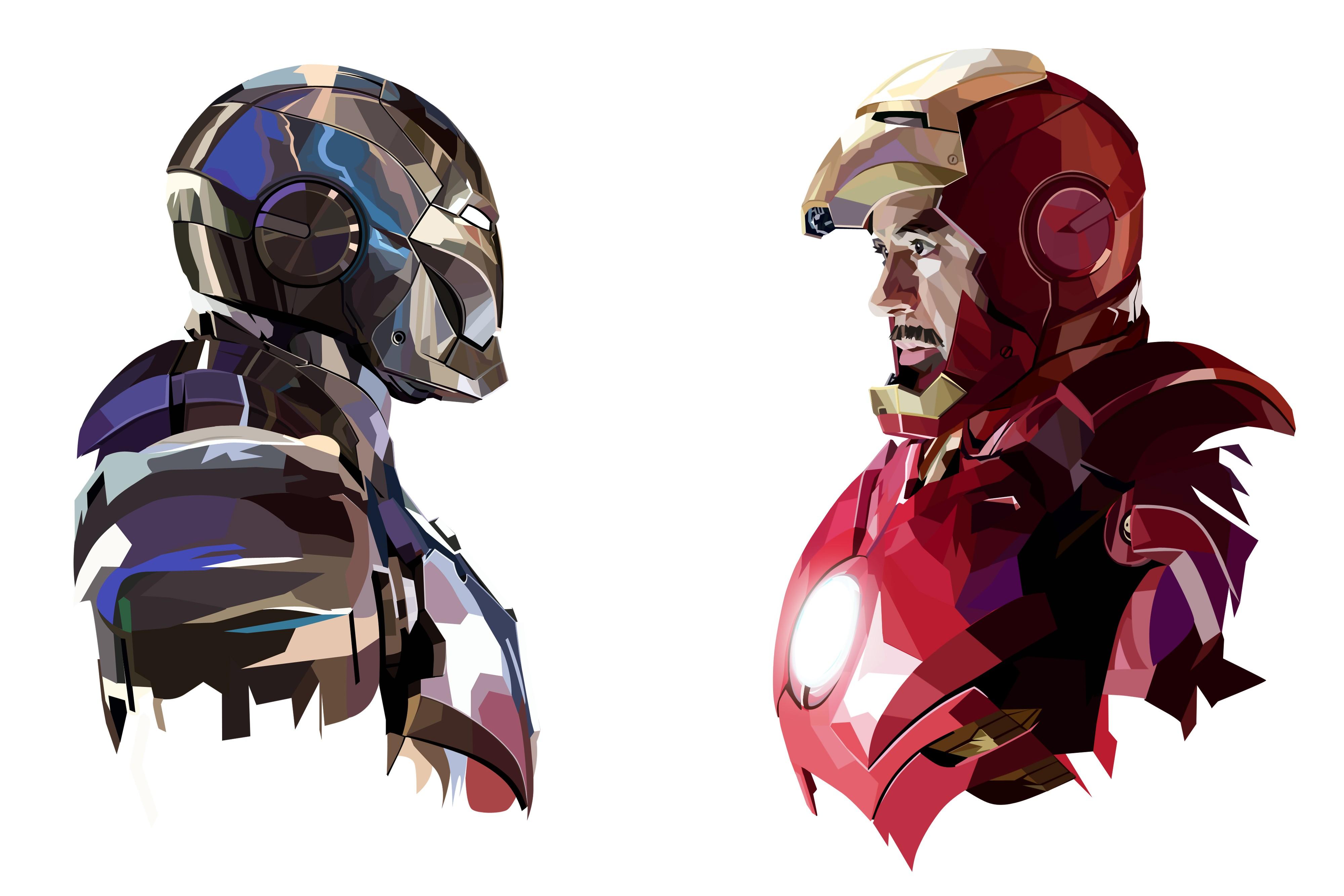 Wallpaper Illustration Anime Cartoon Superhero Iron