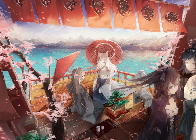 Fondos De Pantalla Ilustracion Anime Flor De Cerezo Ropa