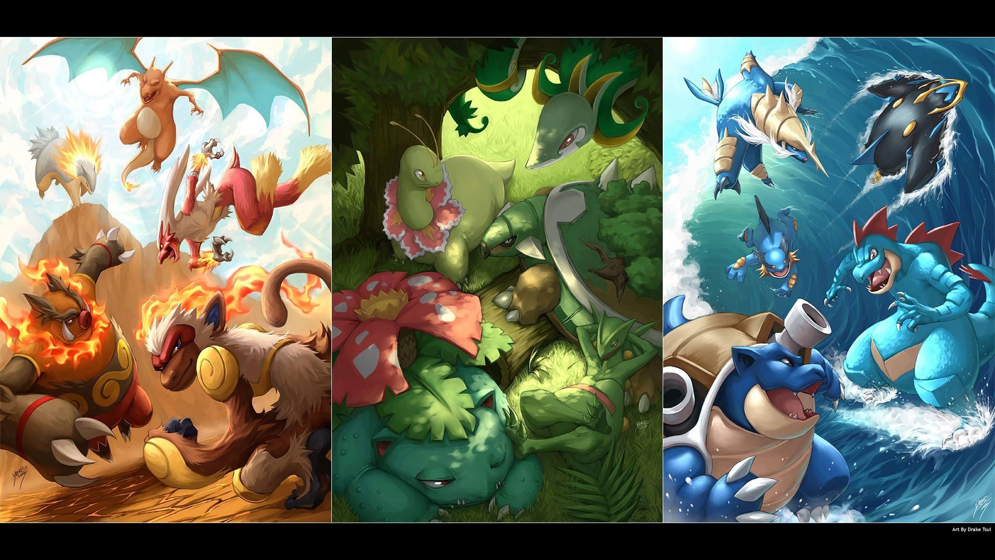 Wallpaper Illustration Anime Collage Pok Mon Pokemon