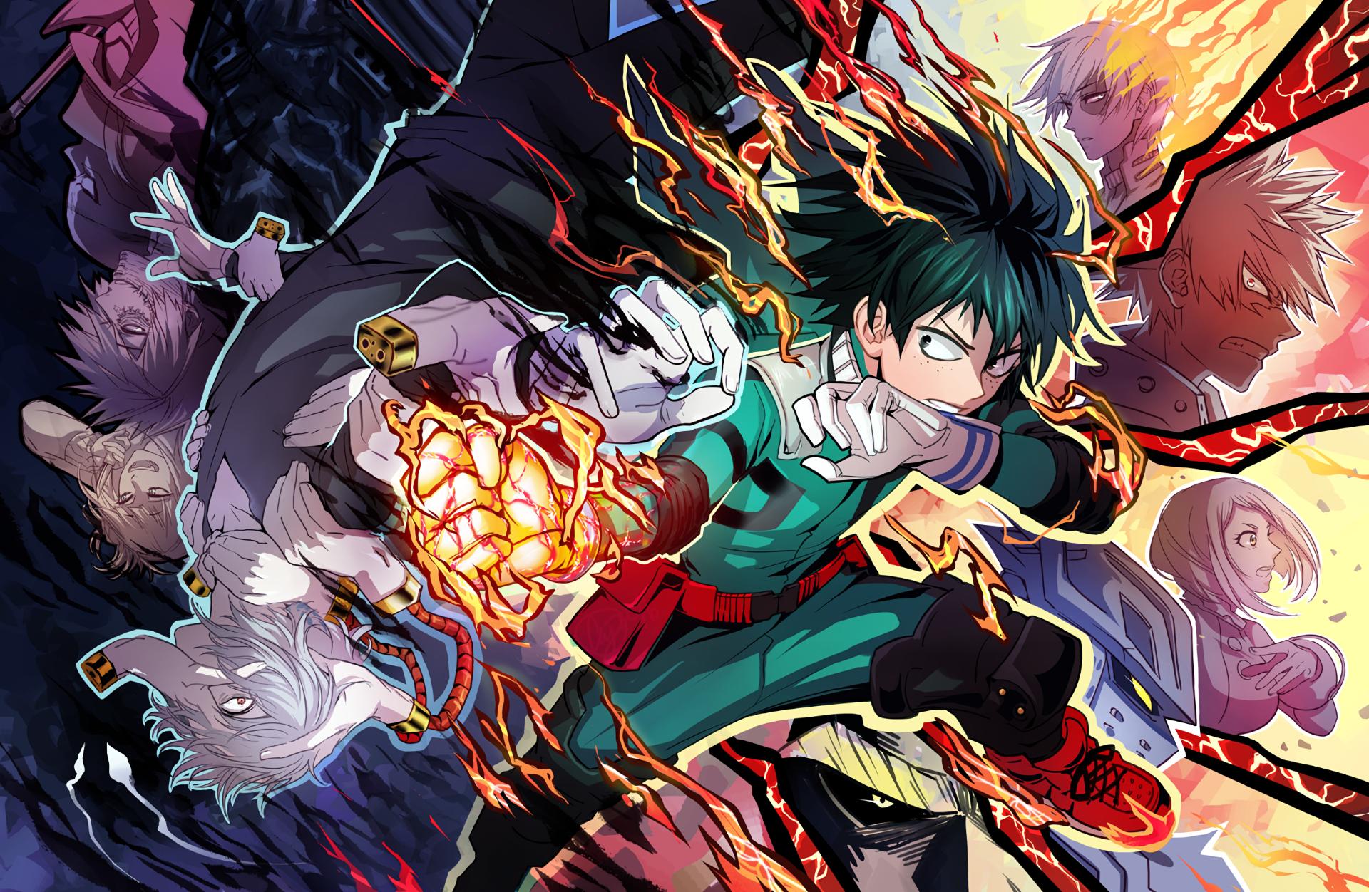 Wallpaper : illustration, anime, comics, Boku no Hero ...