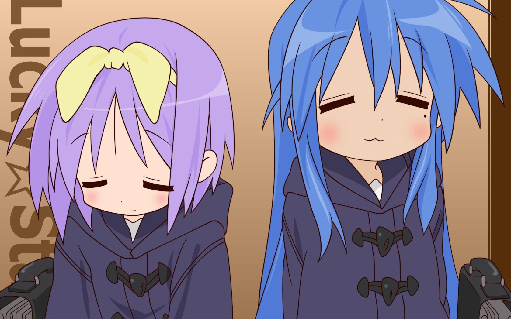 Illustration Anime Emotion Lucky Star Izumi Konata Hiiragi Tsukasa Girls Mangaka