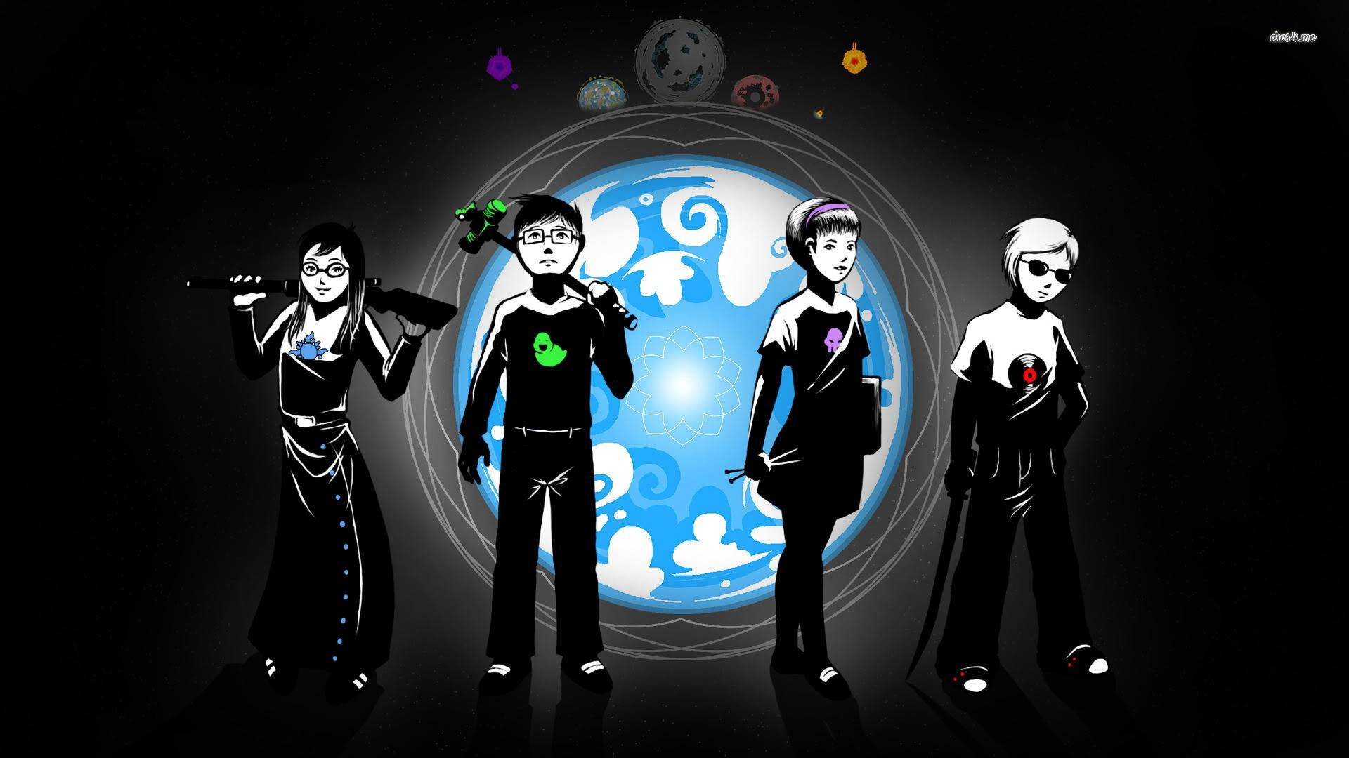 Illustration Anime Girls Boys Homestuck Darkness Screenshot Computer Wallpaper