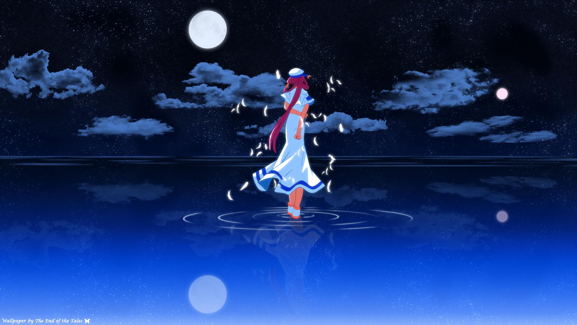 デスクトップ壁紙 図 アニメの女の子 青 アリア スクリーン