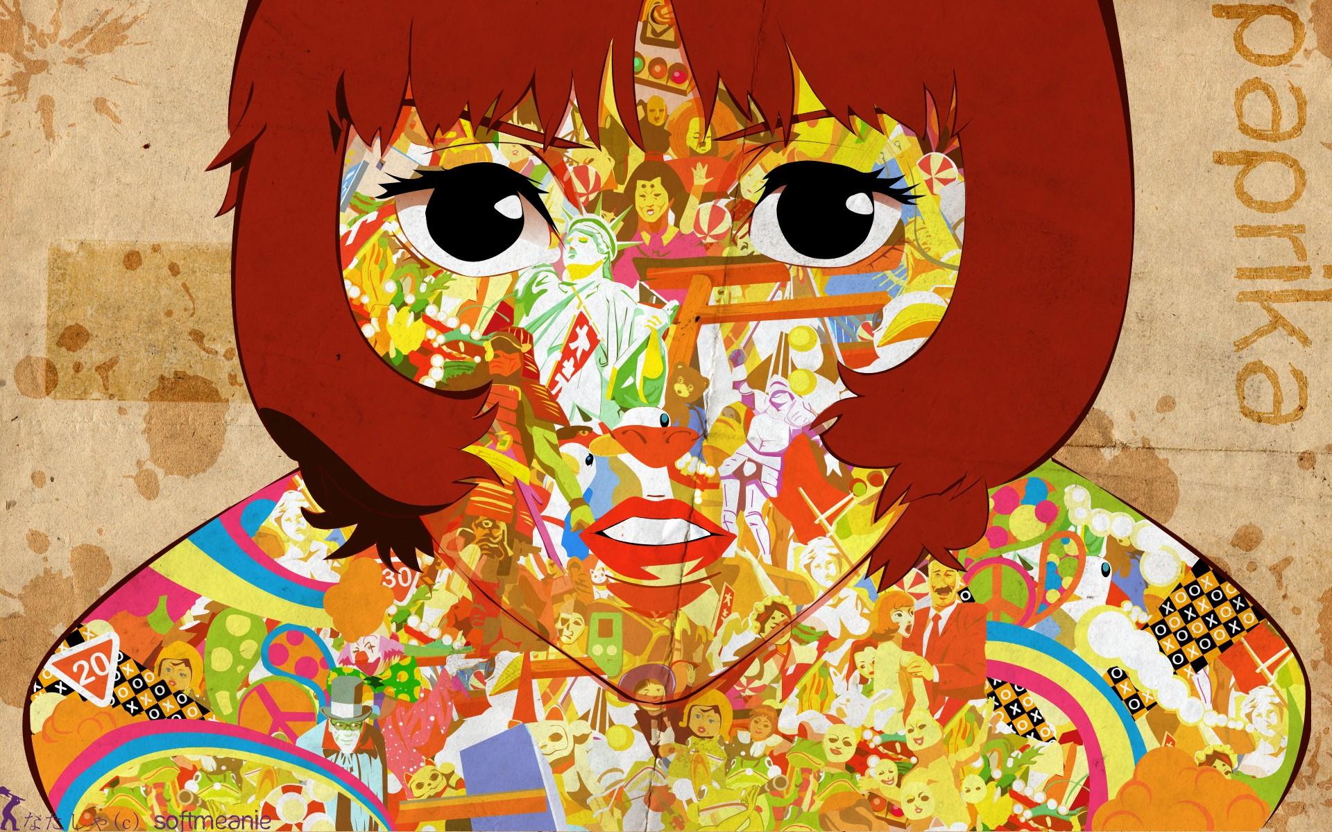 図 アニメの女の子 ポスター パプリカ映画 アート 現代美術